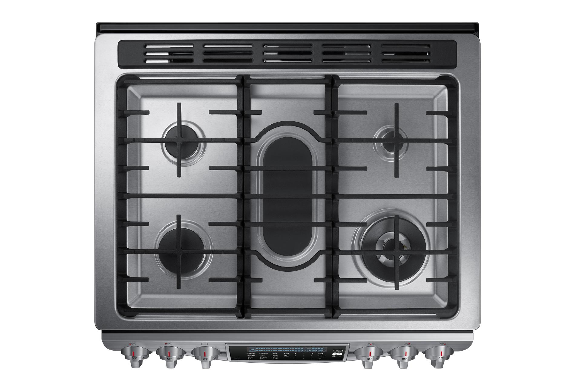 Samsung NX58H9950WS 5.8 cu. ft. Slide-In Gas Chef Collection Range w/ True Convection - Stainless Steel