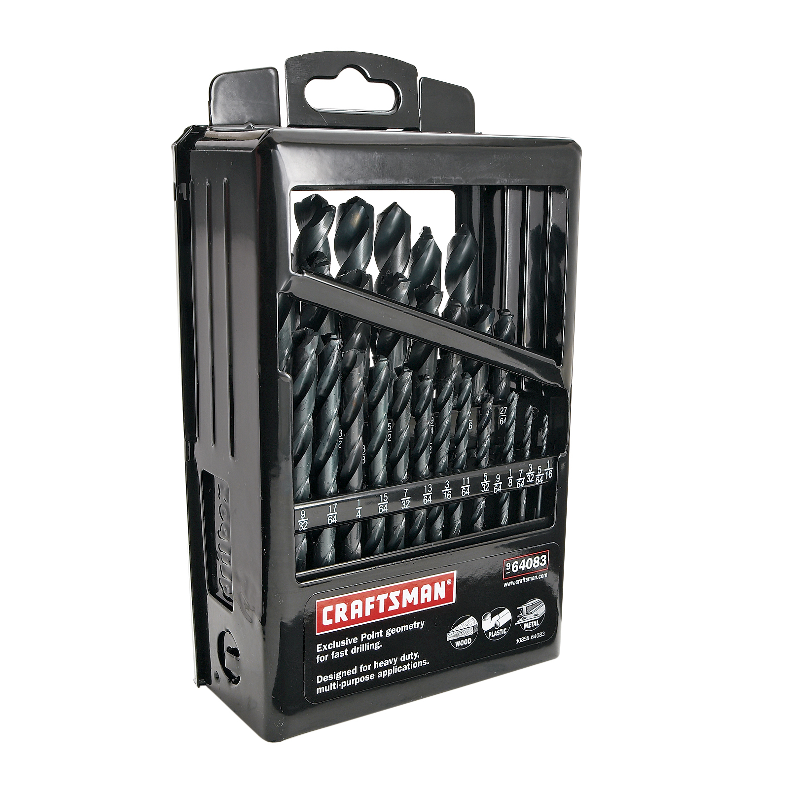 Craftsman 29 pc. Black Oxide Point Drill Bit Set