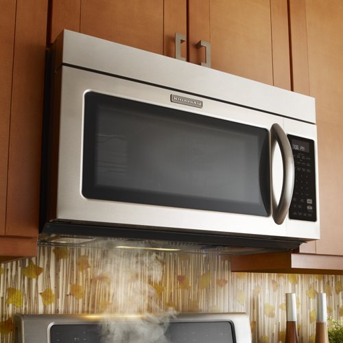 Kitchenaid Convection Microwave Over The Range kitchenaid khmc1857bss 1.8 cu. ft. microwave hood combination oven