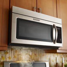 Kitchenaid Khmc1857bss 1 8 Cu Ft Microwave Hood Combination Oven W Convection Cooking Stainless Steel