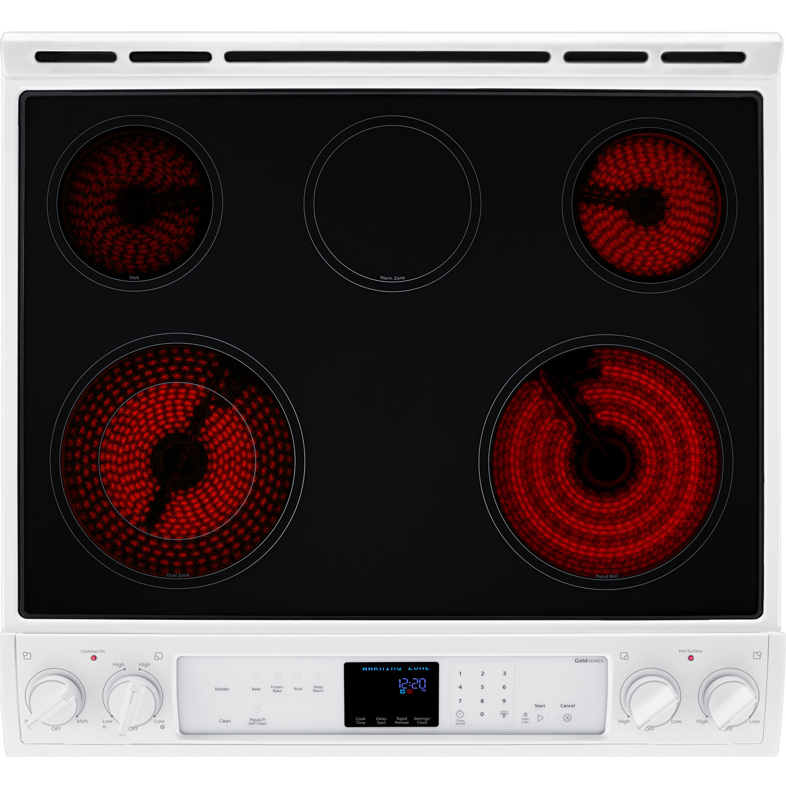 Whirlpool WEE730H0DW 6.2 cu. ft. Slide-In Electric Range w/ TimeSavor™ Convection - White