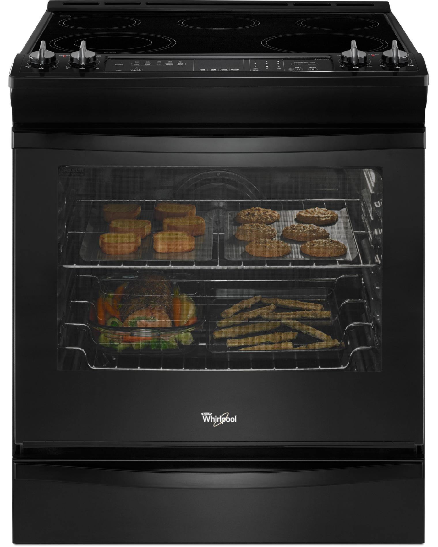 Whirlpool WEE730H0DB 6.2 cu. ft. Slide-In Electric Range w/ TimeSavor™ Convection - Black