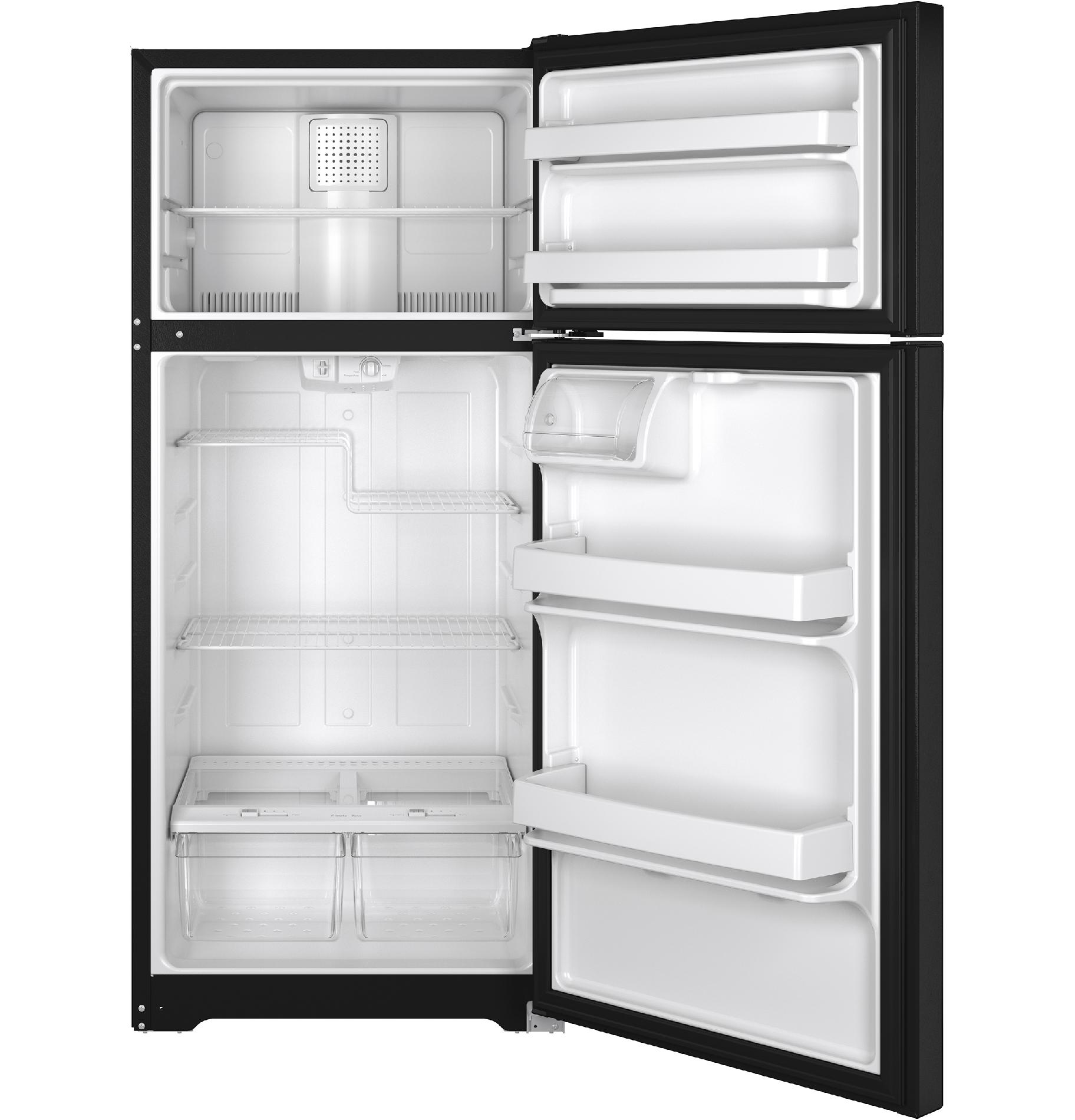 GE Appliances GTE16DTHBB 15.5 cu. ft. Top-Freezer Refrigerator - Black