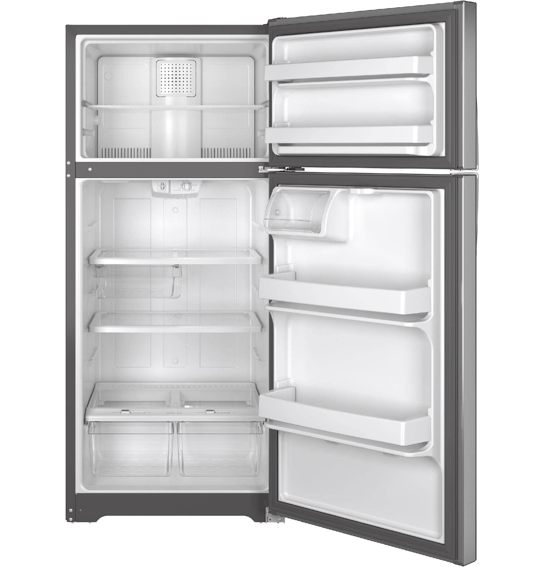 GE Appliances GTS16GSHSS 15.5 cu. ft. Top-Freezer Refrigerator - Stainless Steel