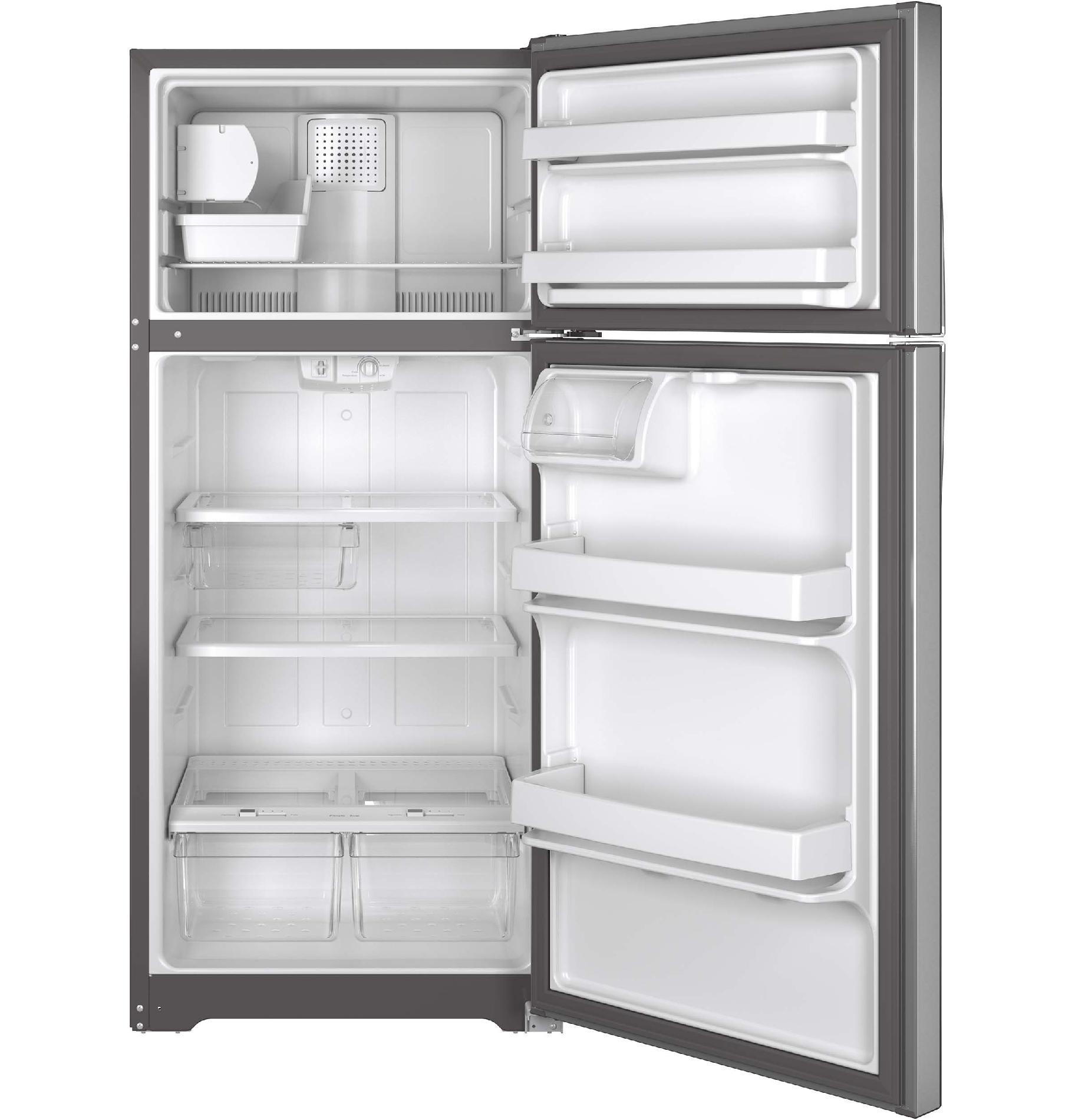 GE Appliances GIE16GSHSS 15.5 cu. ft. Top-Freezer Refrigerator - Stainless Steel