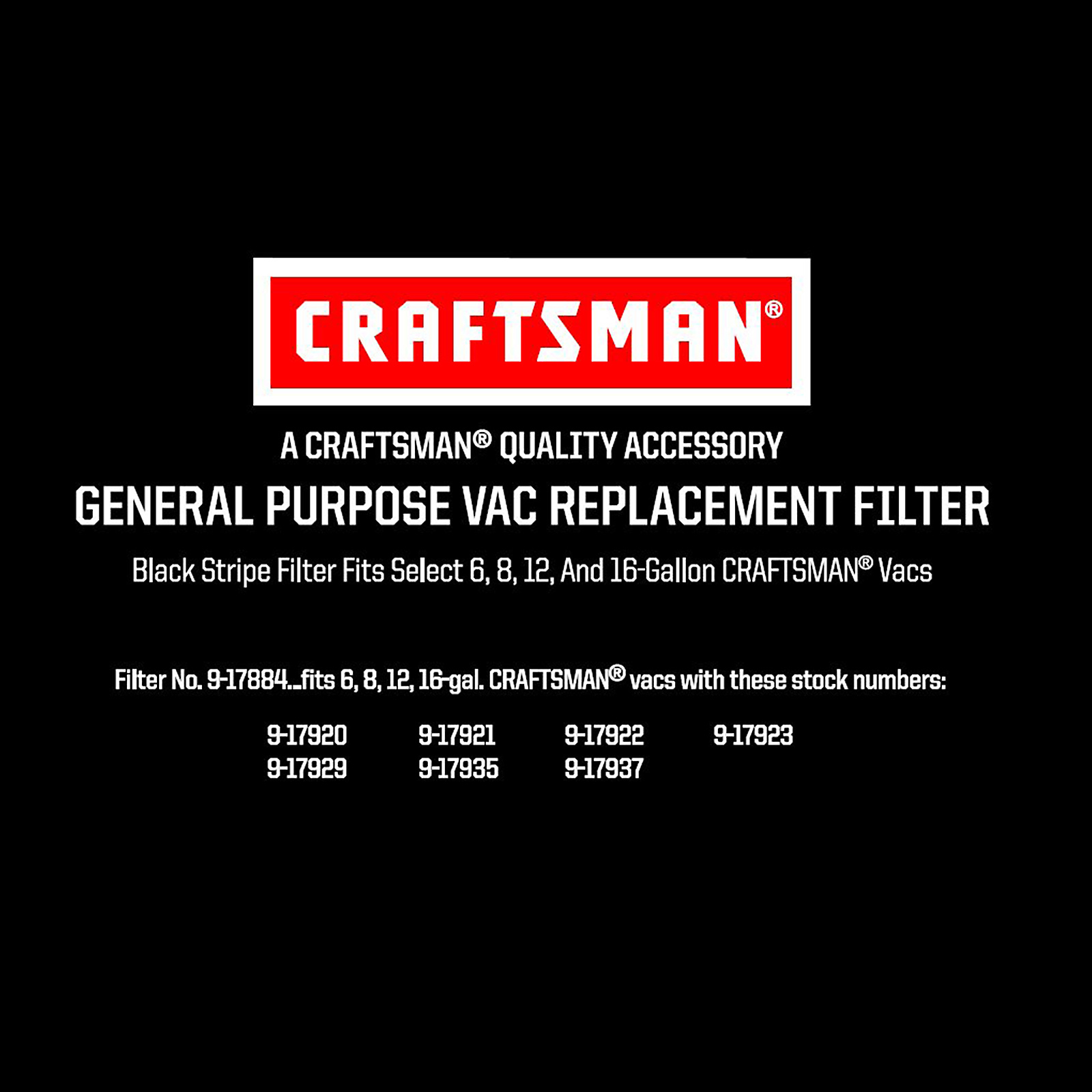 Craftsman Cartridge Filter