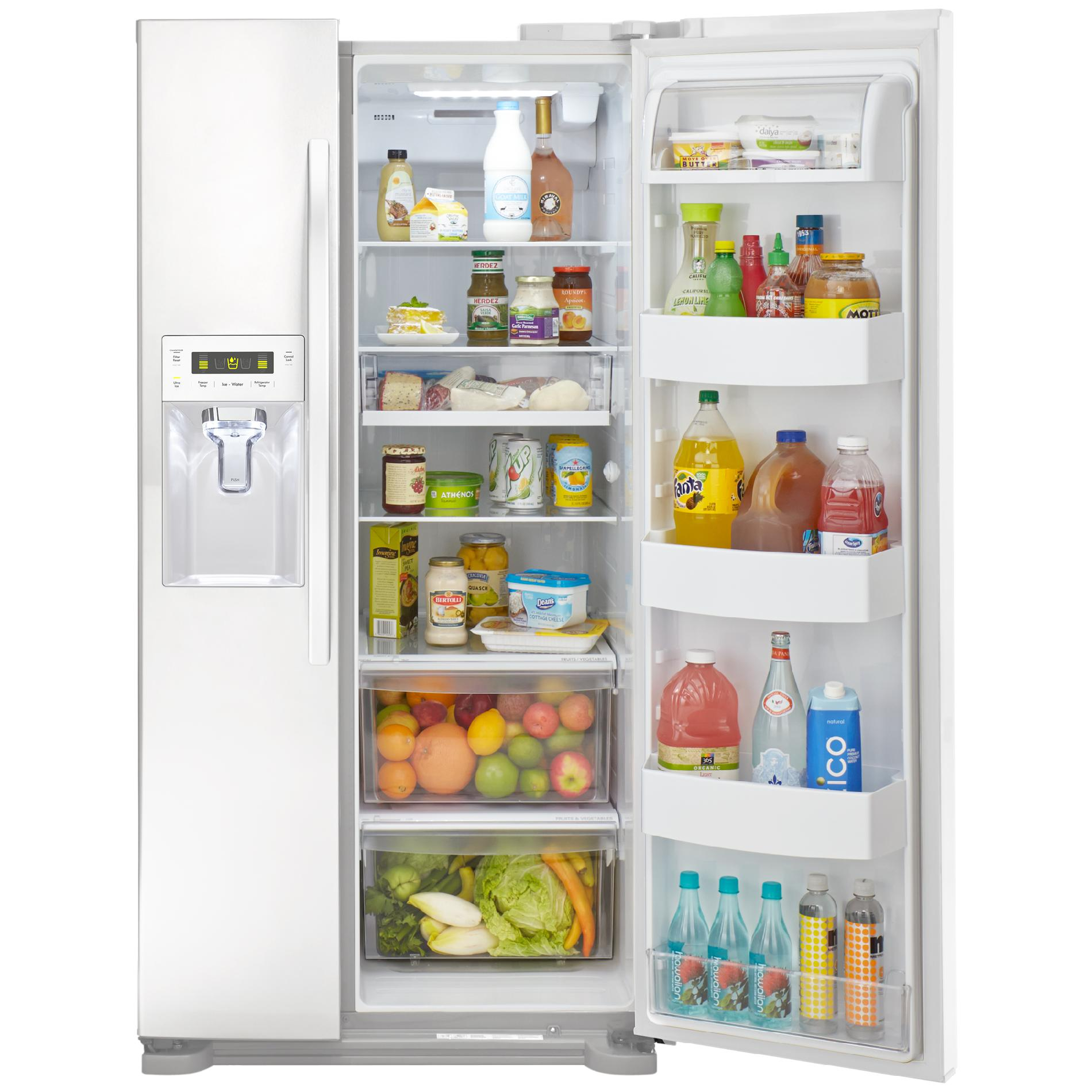 Kenmore 51812 21.9 cu. ft. Side-by-Side Refrigerator w/ Dispenser - White