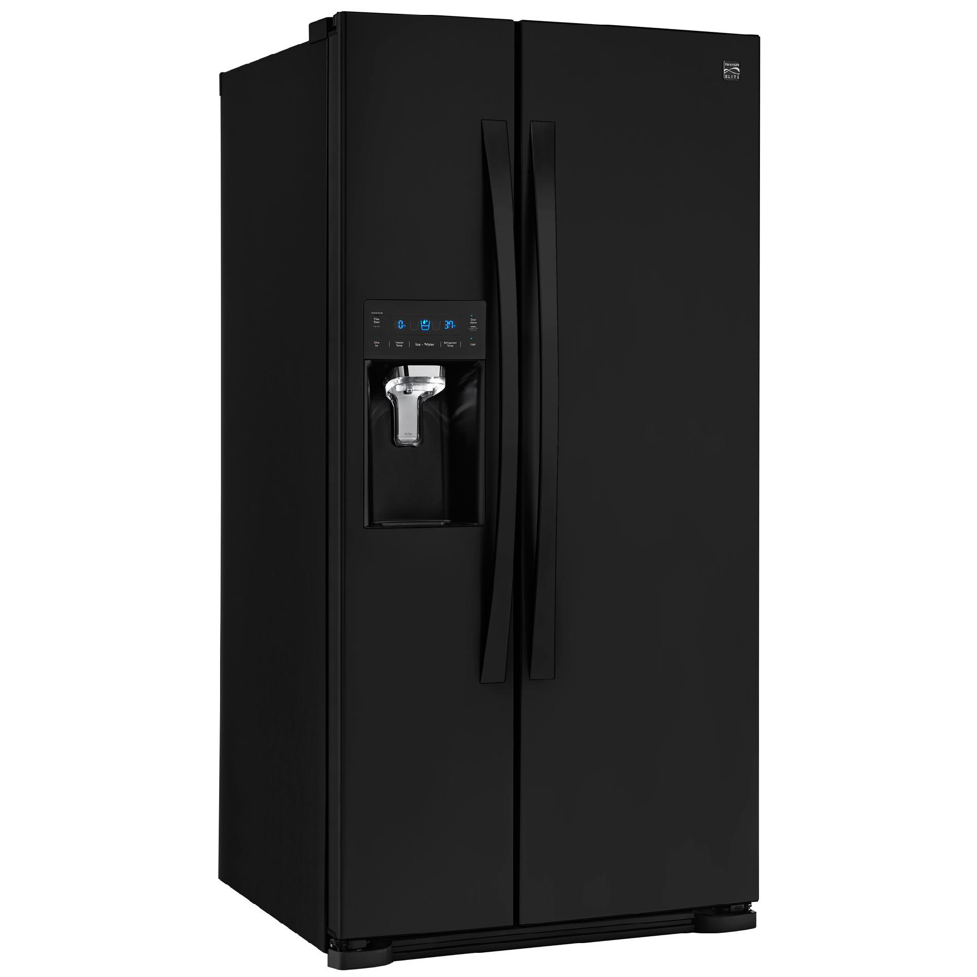 """Kenmore Elite 51829 Elite 21.9 Cu. Ft. 33"""" Side-by-Side Refrigerator with Dispenser"""