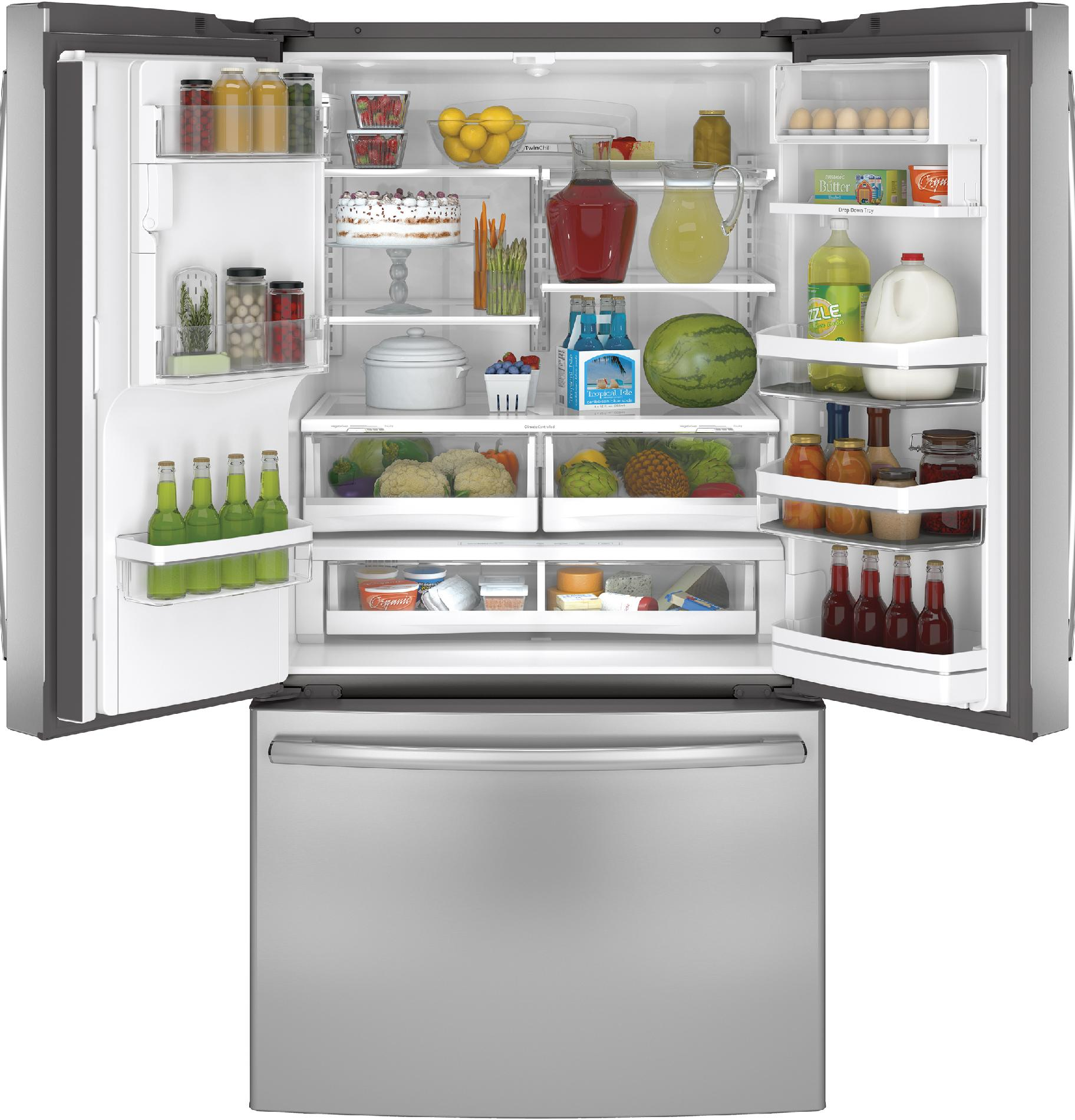 GE Profile PFE28RSHSS 27.7 cu. ft. French-Door Ice & Water Refrigerator - Stainless Steel