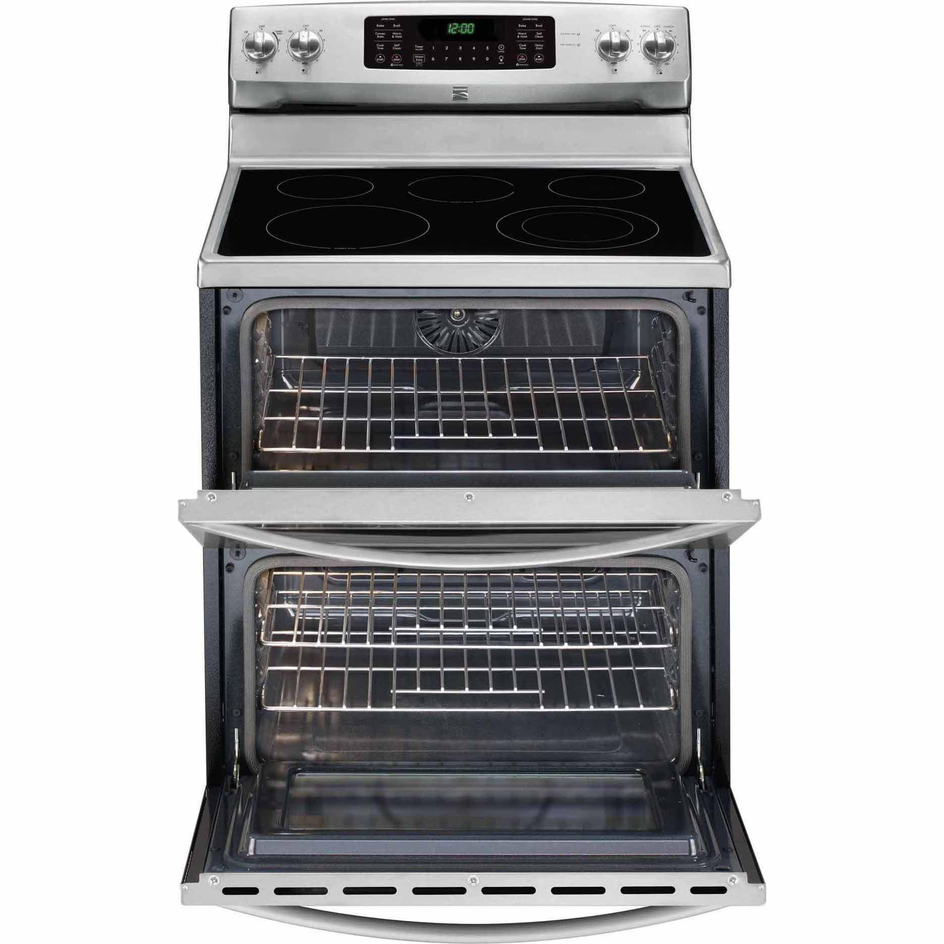 Kenmore 97223 7.2 cu. ft. Double-Oven Electric Range w/ Convection - Stainless w Black Trim