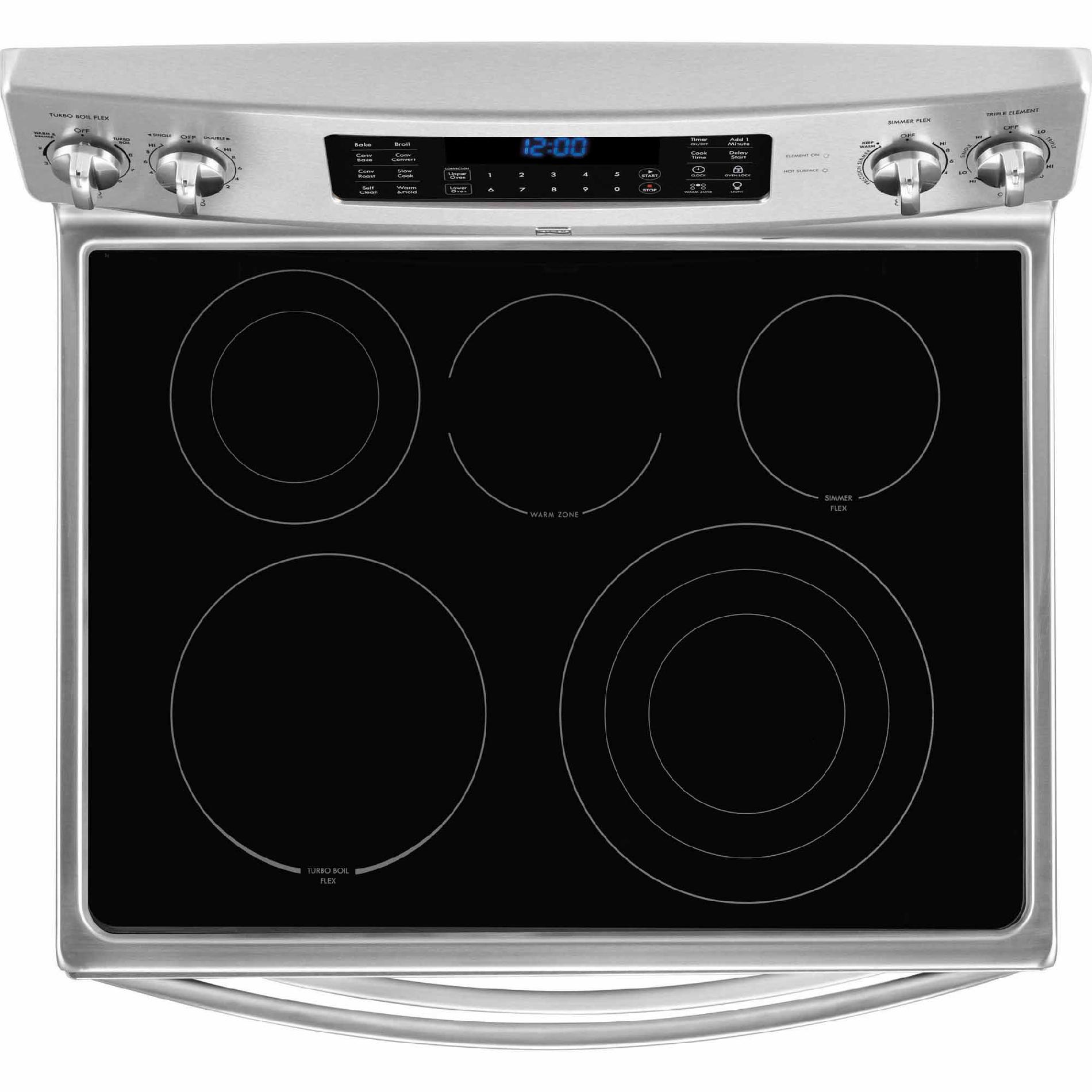 Kenmore Elite 97403 7.2 cu. ft. Double-Oven Electric Range - Stainless Steel