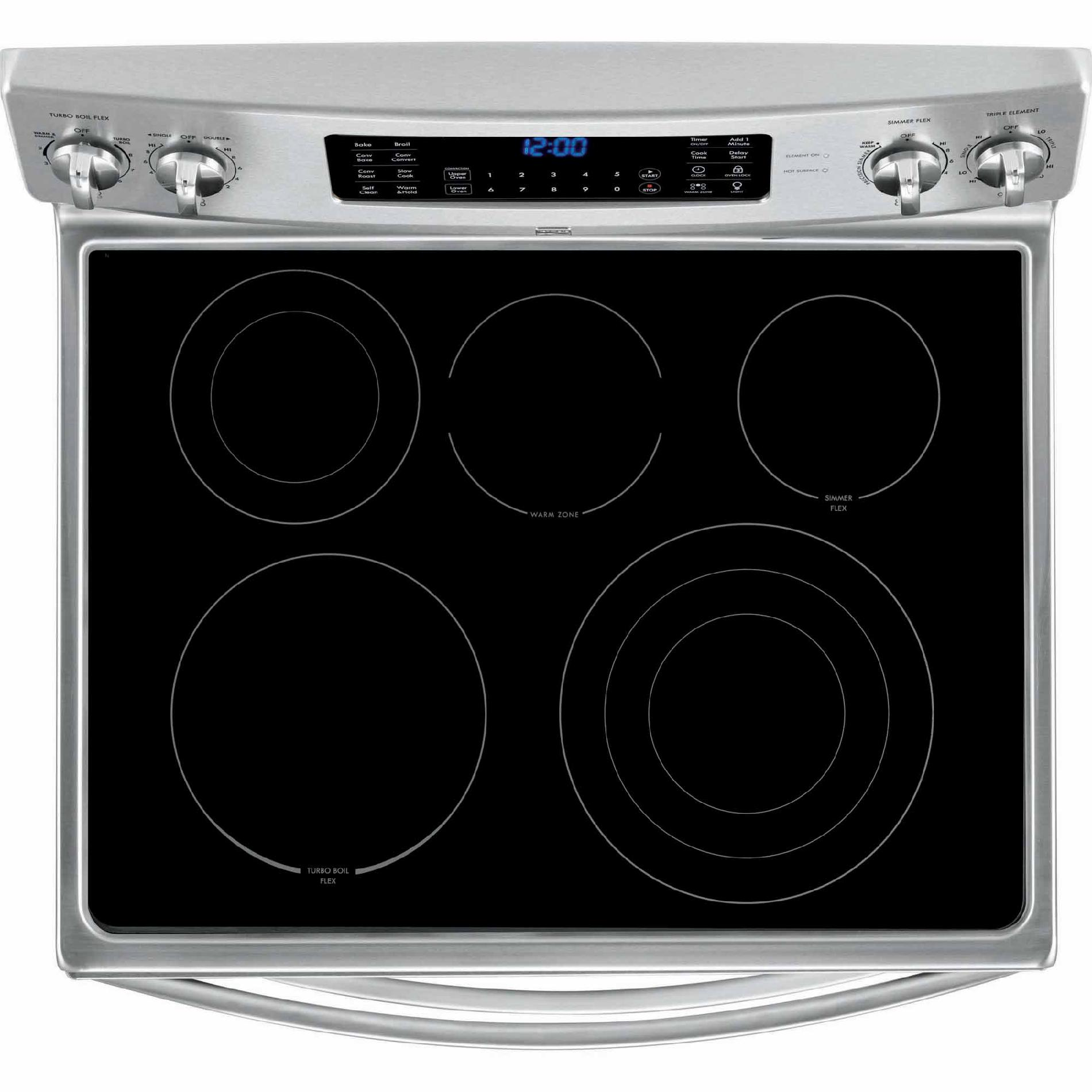 Kenmore Elite 97323 6.9 cu. ft. Double-Oven Electric Range w/ True Convection - Stainless Steel