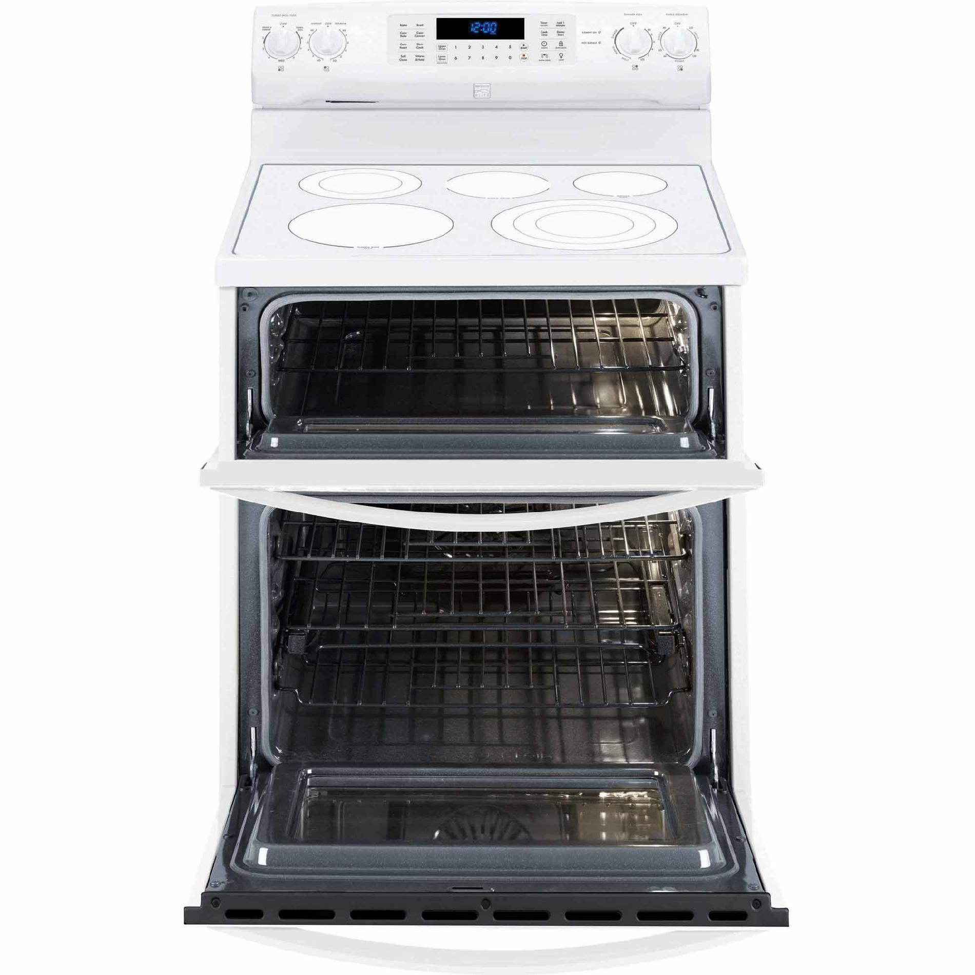 Kenmore Elite 97312 6.9 cu. ft. Double-Oven Electric Range w/ True Convection - White