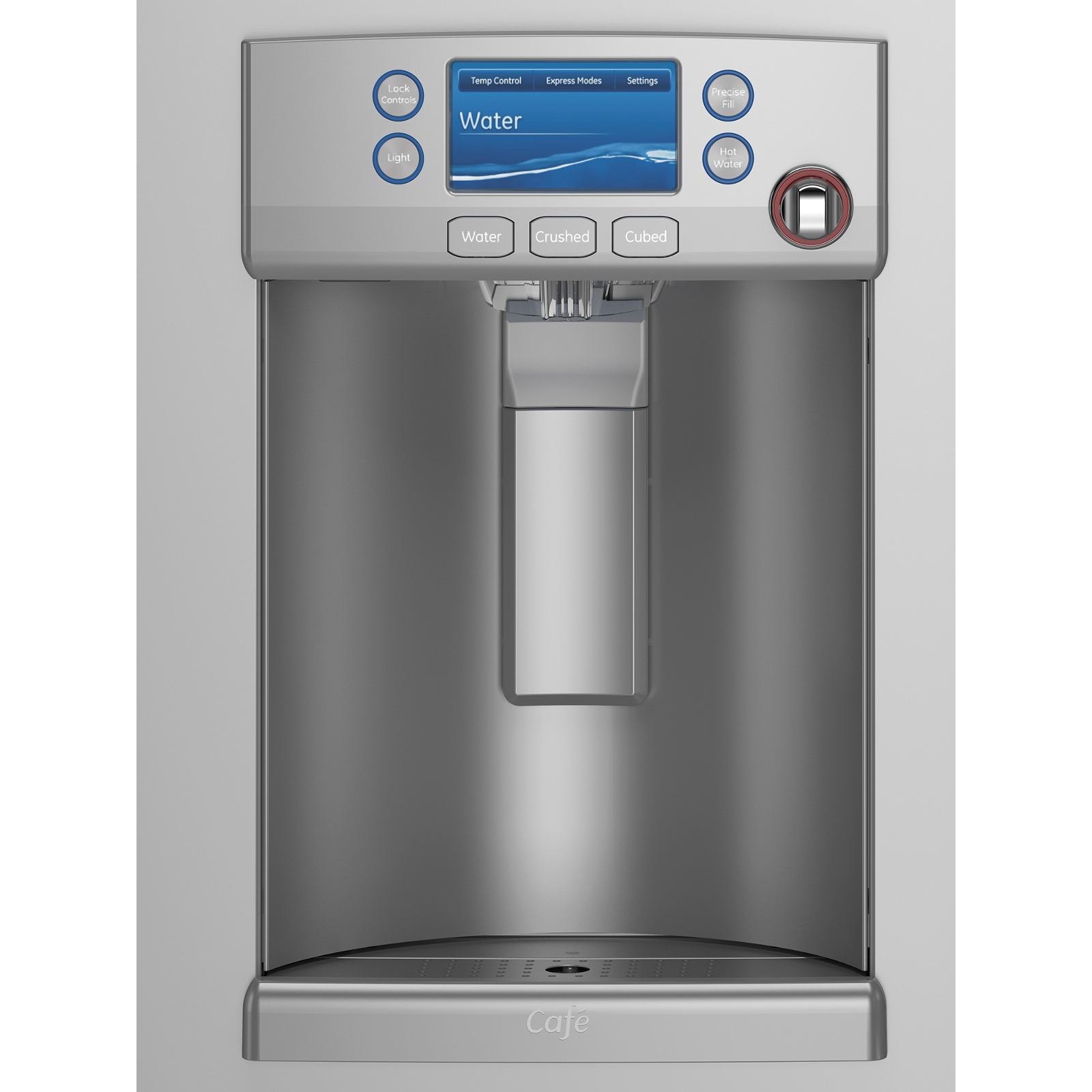 GE Cafe™ Series CYE22TSHSS 22.1 cu. ft. Counter-Depth French-Door Refrigerator W/ Hot Water Dispenser - Stainless Steel