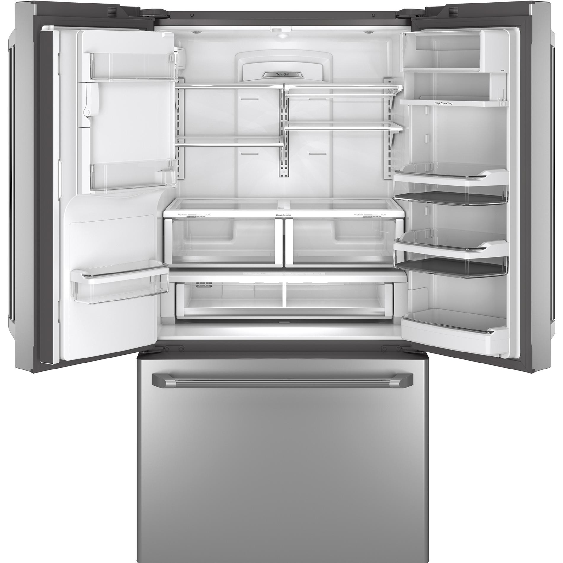 GE Cafe™ Series CFE28TSHSS 27.8 cu. ft. French-Door Refrigerator W/ Hot Water Dispenser - Stainless Steel