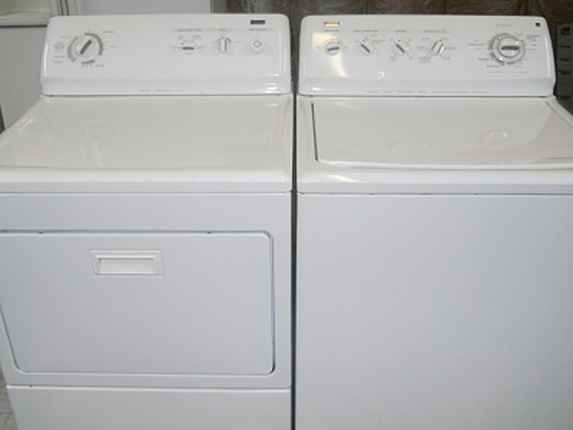 Kenmore 3.8 top load HE Washer and 7.5 ct. fl. Electric Dryer
