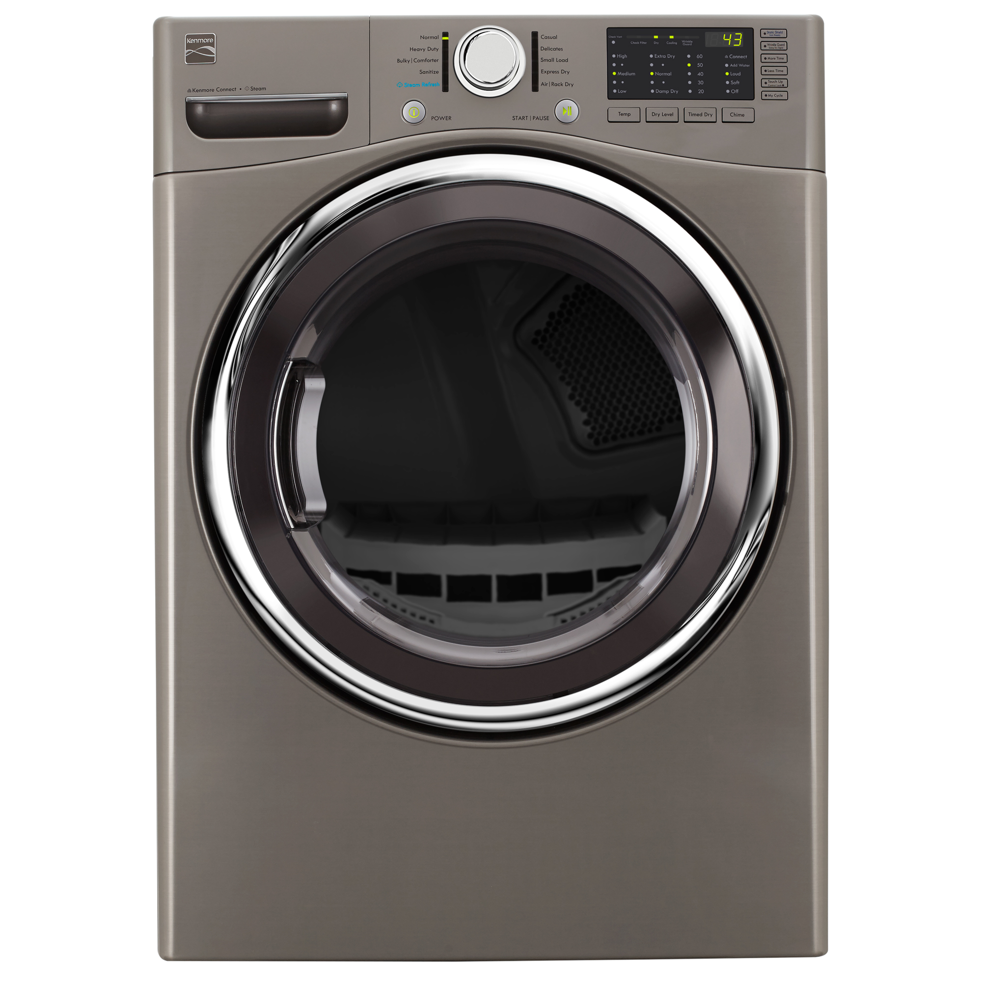 81383-7-4-cu-ft-Electric-Dryer-w-Steam-Metallic-Silver