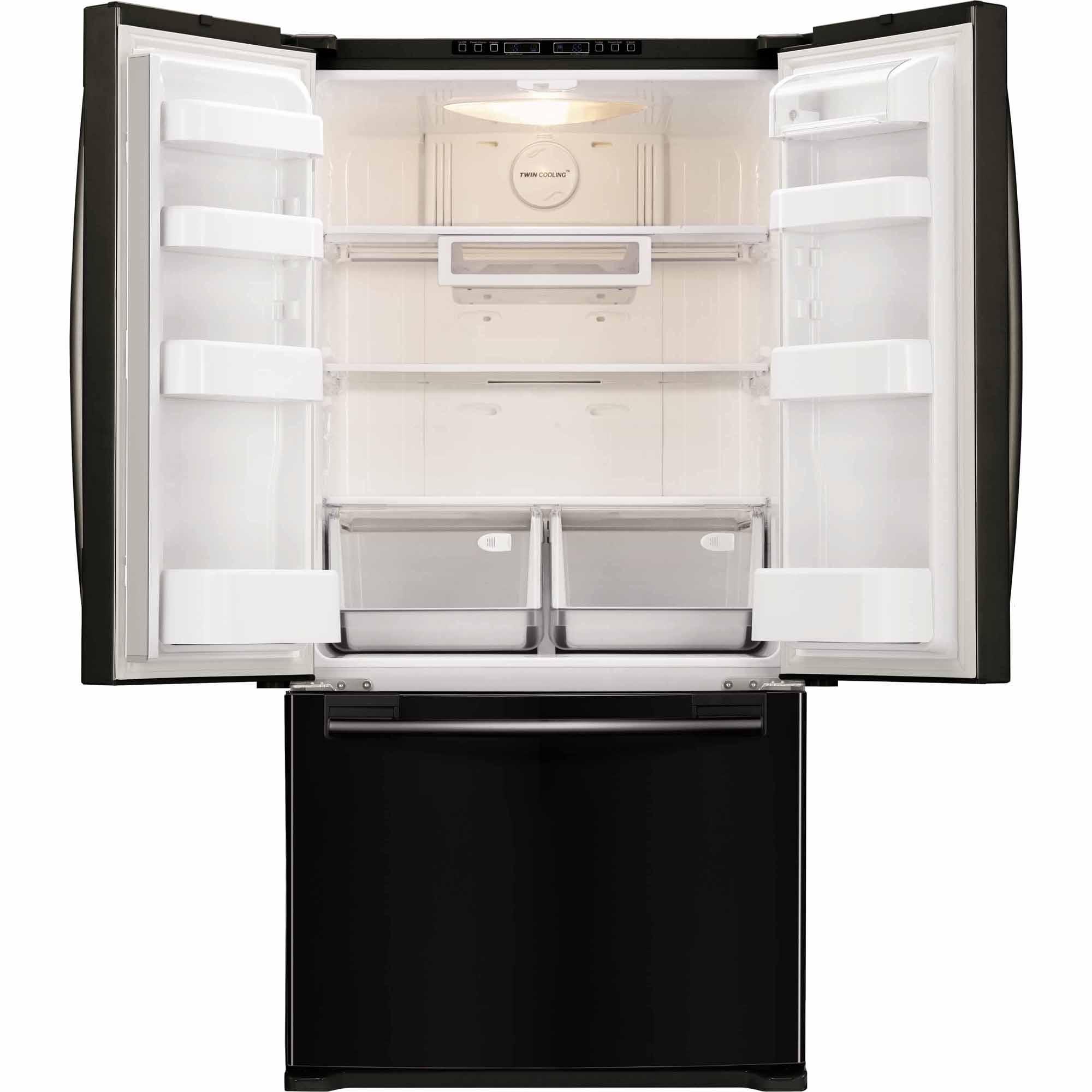 Samsung 18 cu. ft. Capacity Counter-Depth French Door Refrigerator - Black