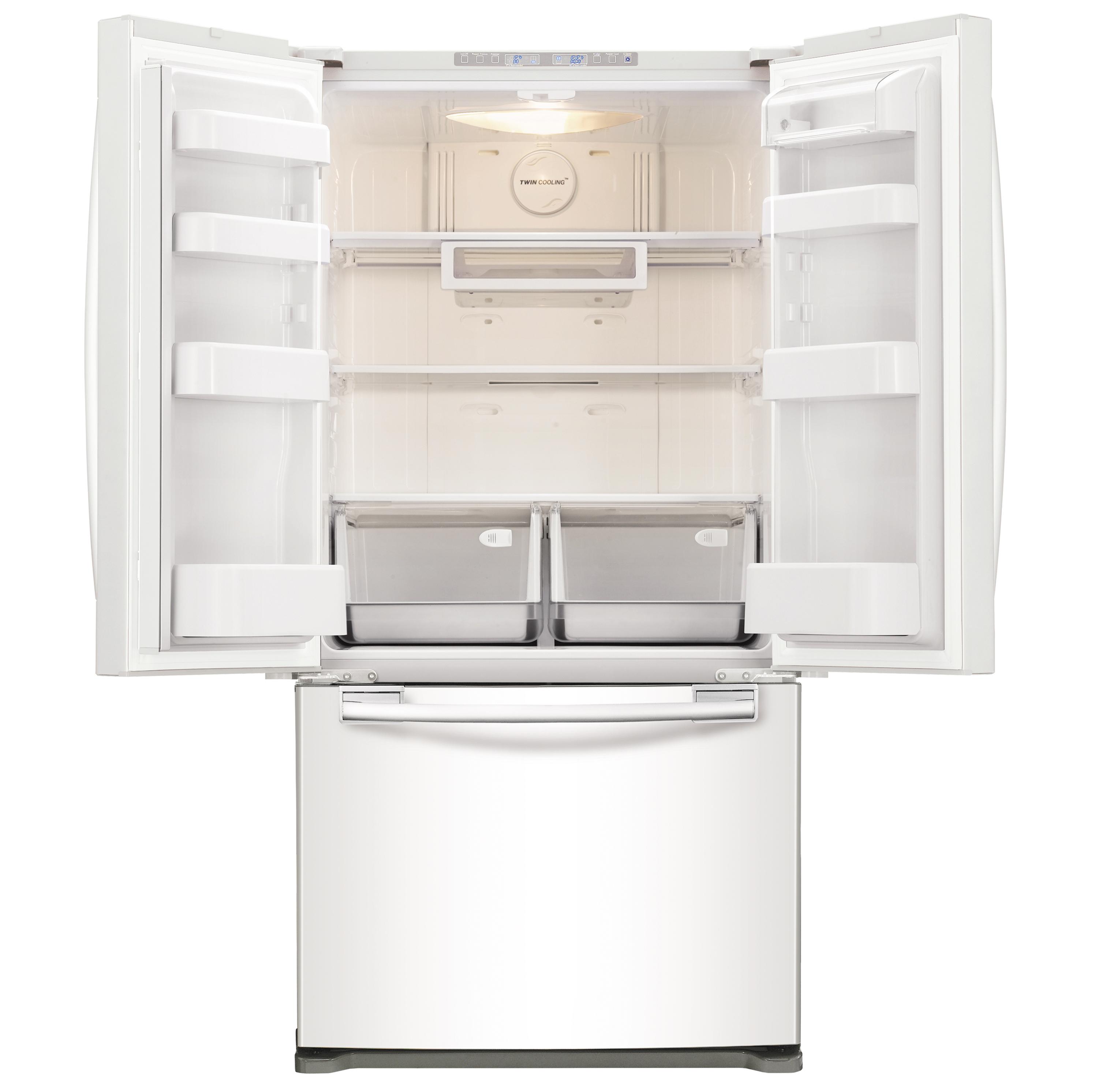 Samsung 18 cu. ft. Capacity Counter-Depth French Door Refrigerator - White