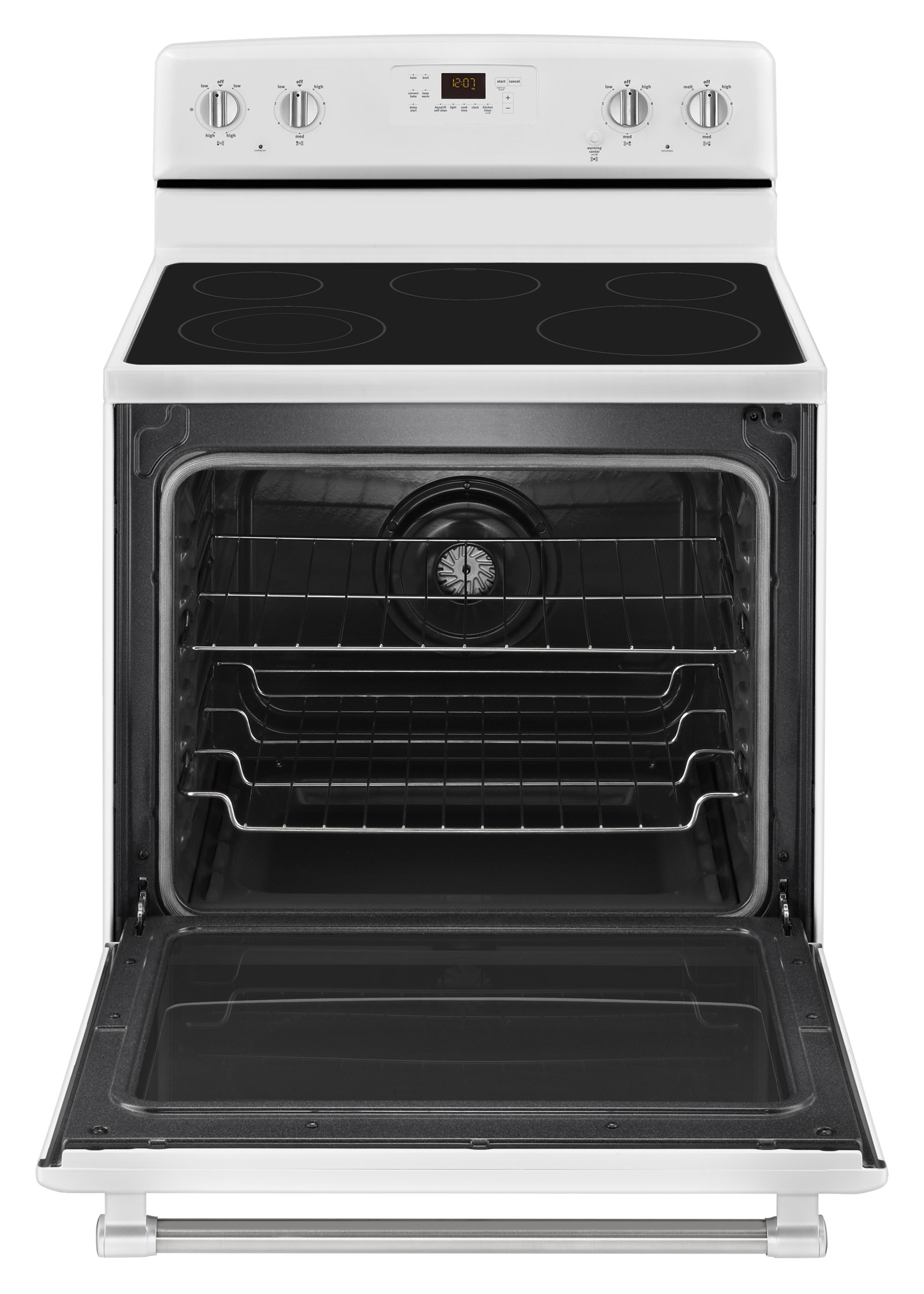 Maytag MER8700DH 6.2 cu. ft. Electric Range w/ 5th Element - White w/ Stainless Handle