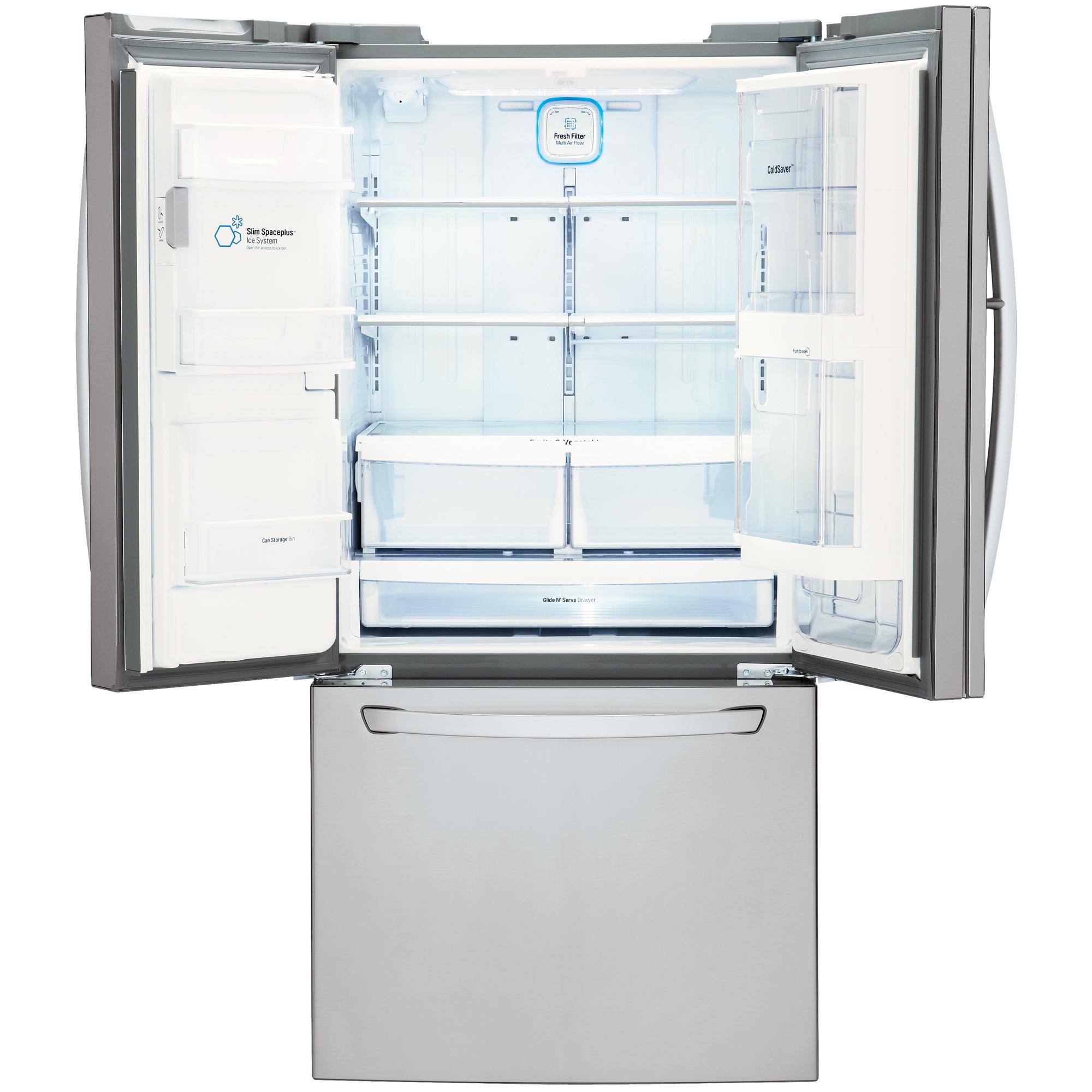 """LG LFXS24663S 24.0 cu. ft. Ultra-Lar Capacity Door-in-Door™ French Door Refrigerator (33"""" Width)"""