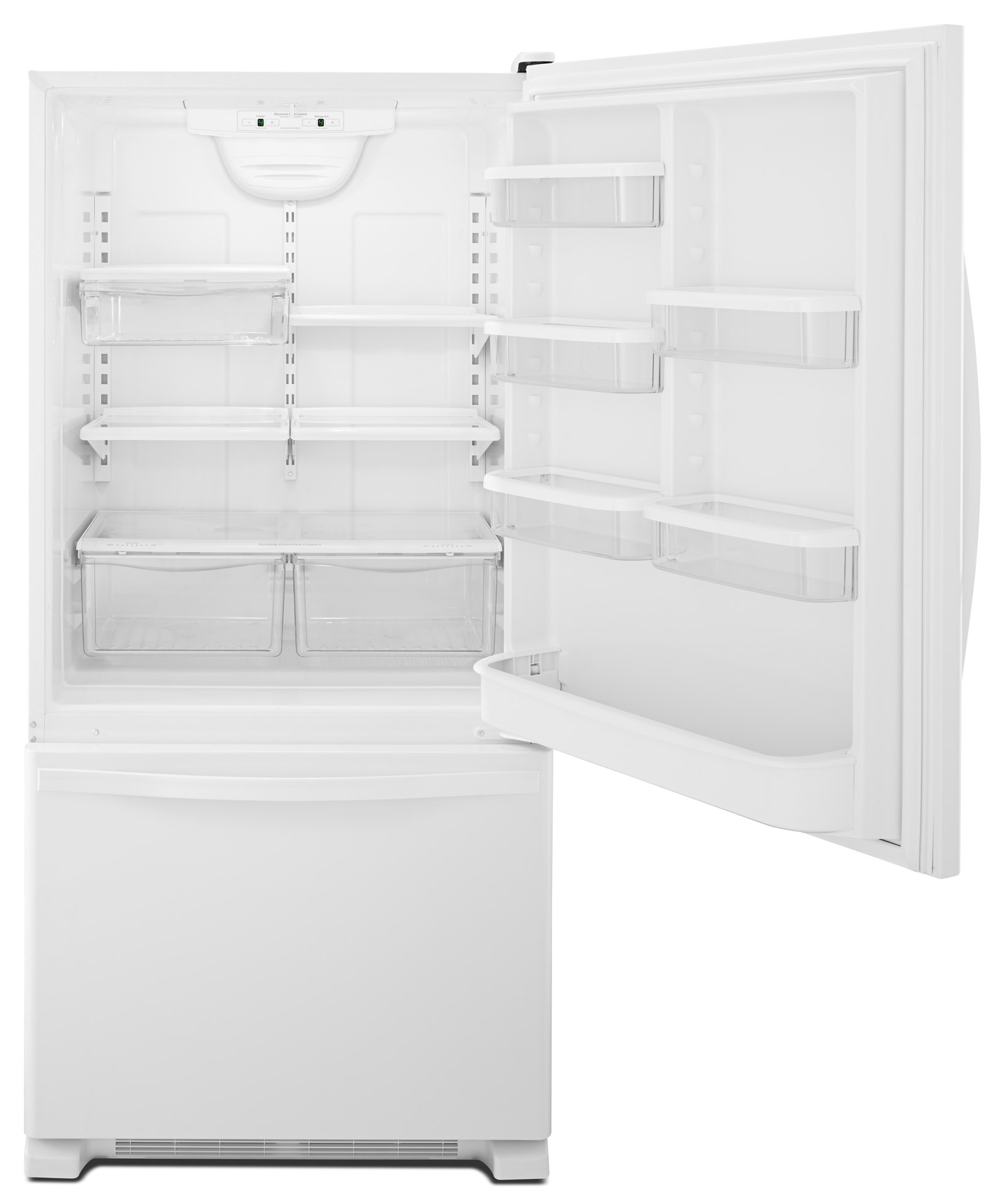 Whirlpool WRB329DMBW 19 cu. ft. Single Door Bottom Freezer Refrigerator w/ Adaptive Defrost - White