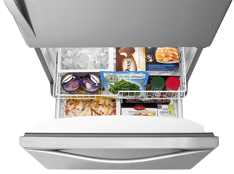 Whirlpool 19 cu. ft. Single Door Bottom Freezer Refrigerator w/ Adaptive Defrost - Stainless Steel