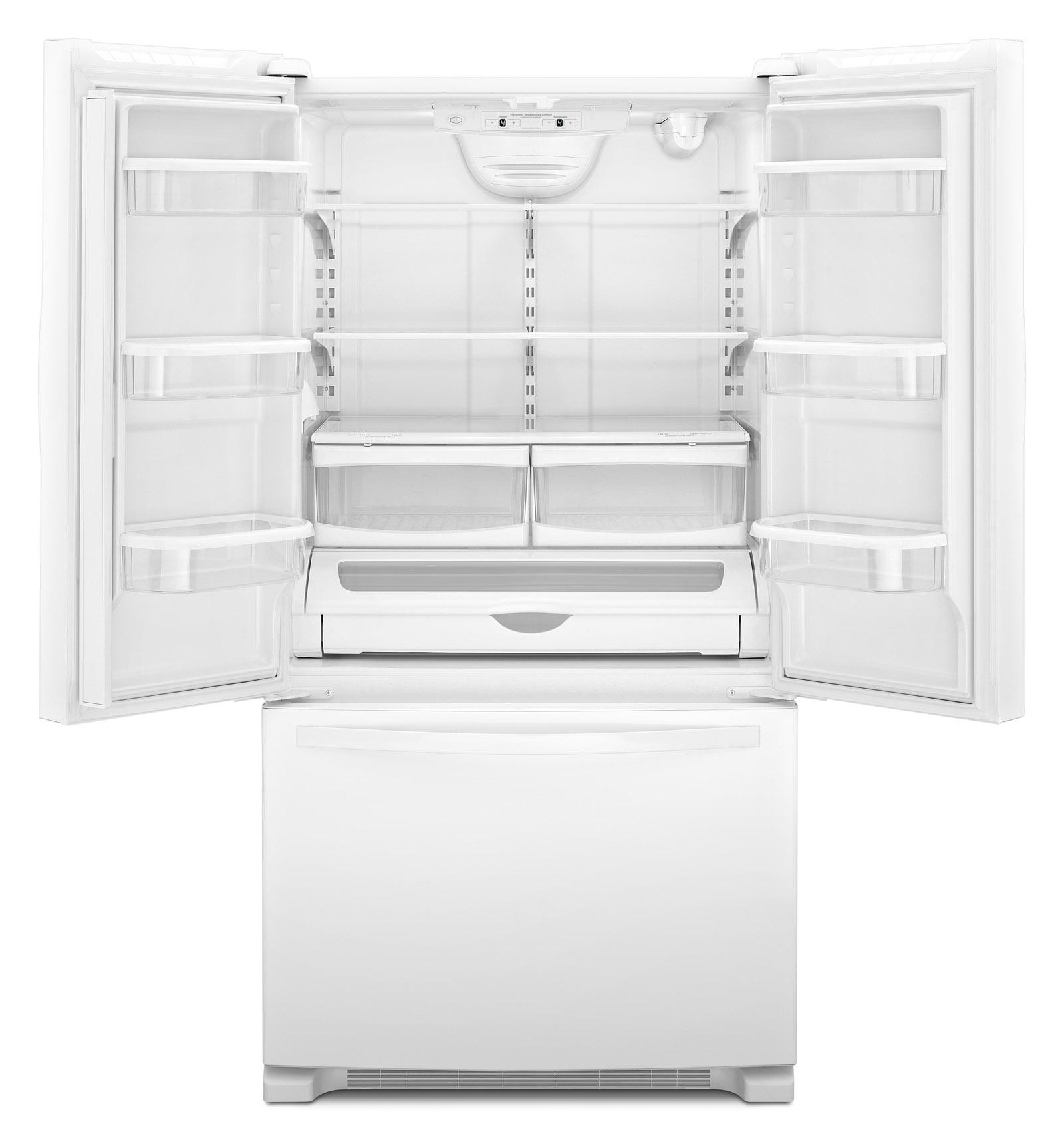 Whirlpool 22 cu. ft. French Door Bottom Freezer Refrigerator w/ Adaptive Defrost - White