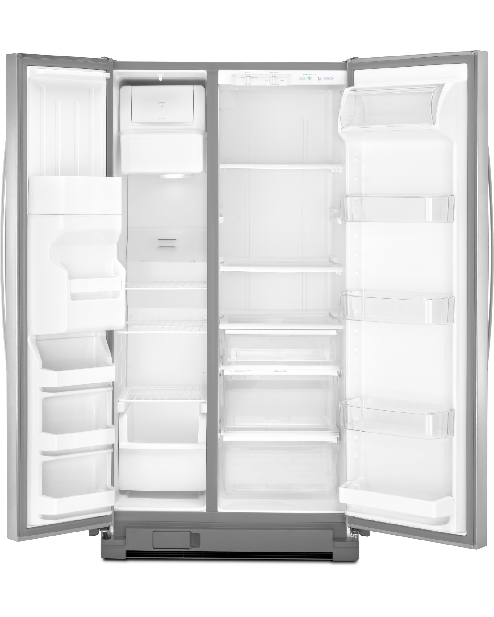 Kenmore 51723 25 cu. ft. Side-by-Side Refrigerator w/ SmartSense™ Cooling Technology - Stainless Steel