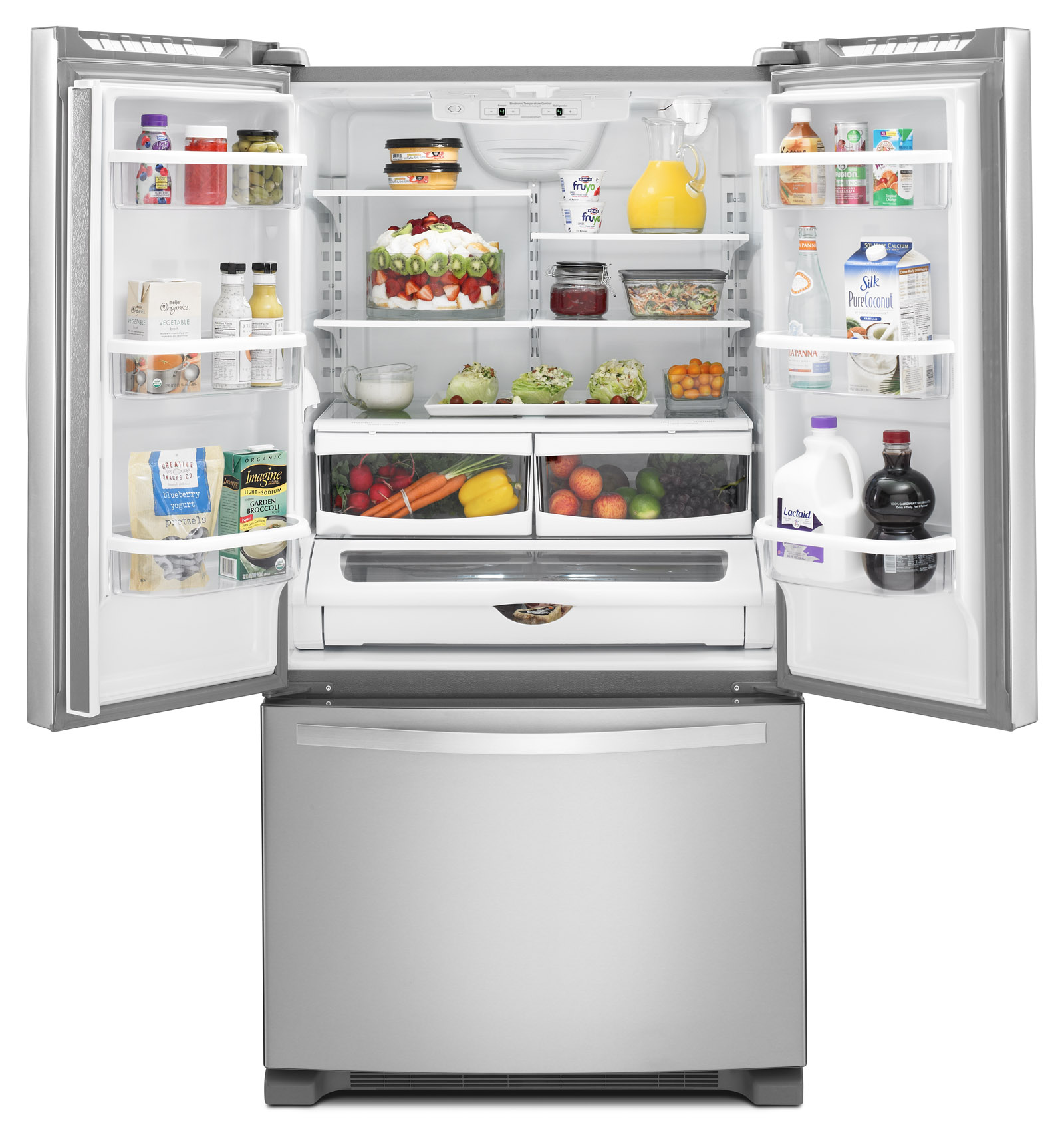Whirlpool WRF535SWBM 25 cu. ft. French Door Refrigerator w/ Interior Water Dispenser - Stainless Steel