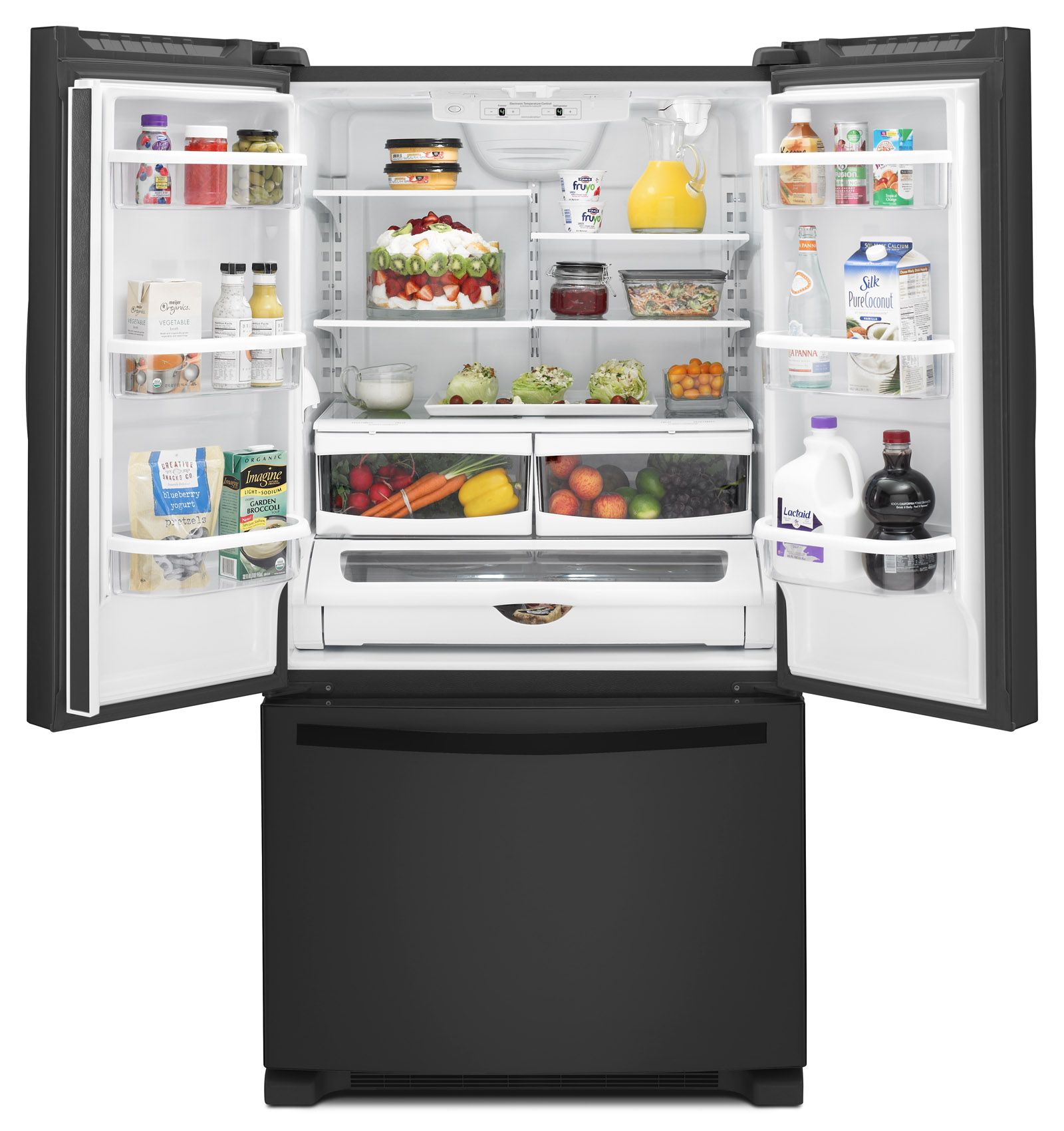Whirlpool WRF535SWBB 25 cu. ft. French Door Refrigerator w/ Interior Water Dispenser - Black