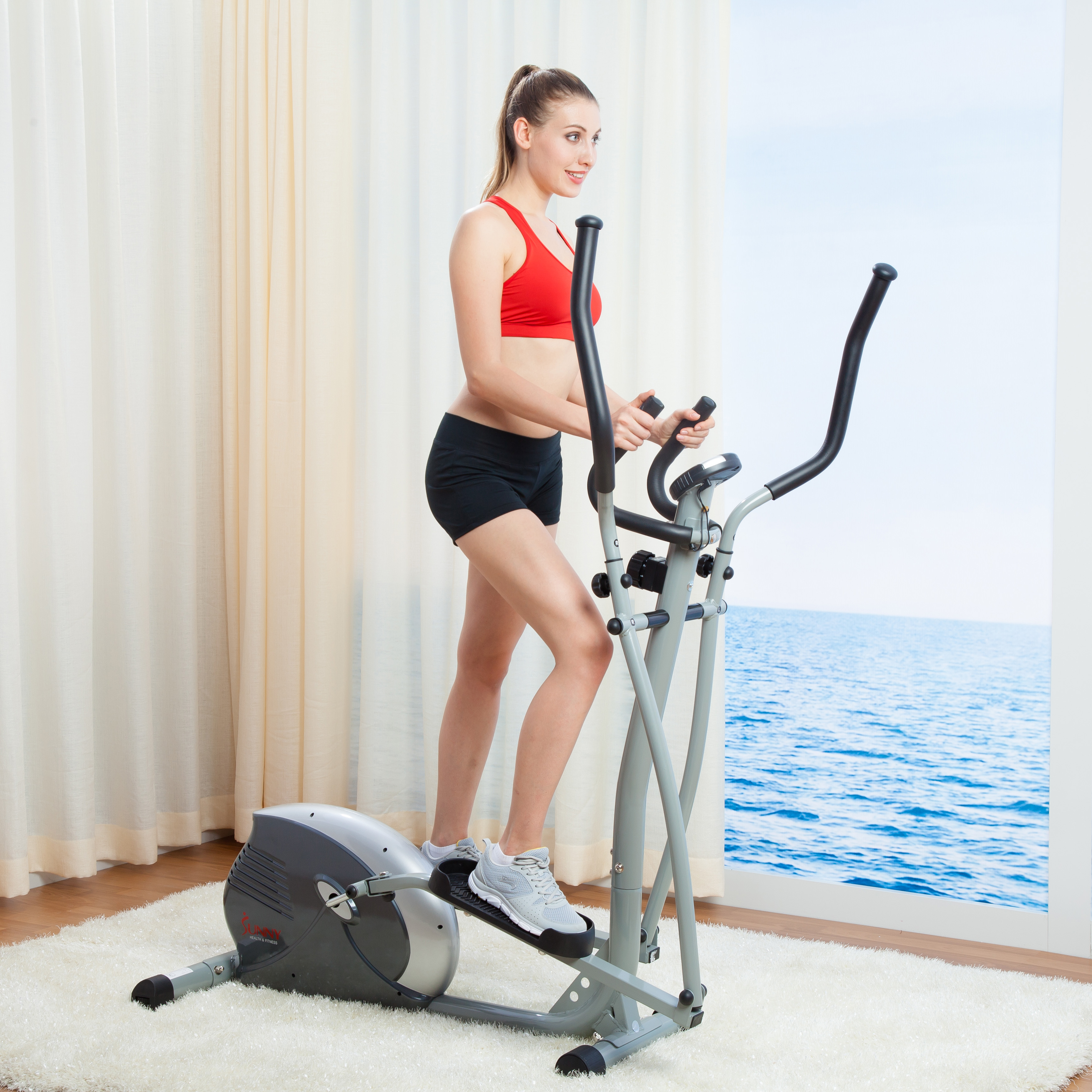Sunny Health & Fitness SF-E906 Magnetic Elliptical Trainer
