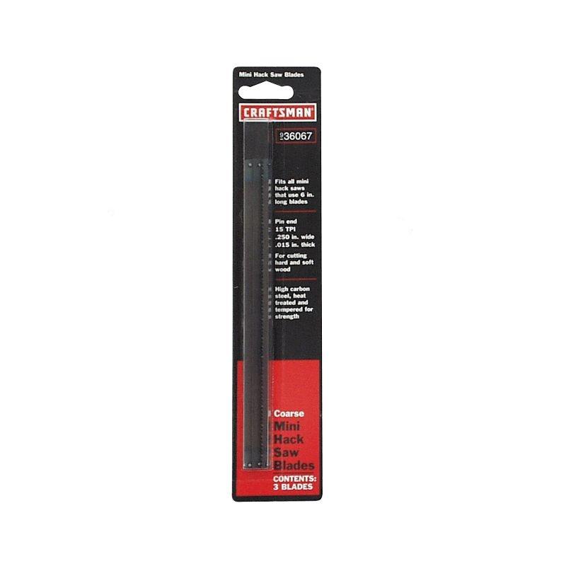 Craftsman 6 in. Pin End Mini-Hacksaw Blades, 15 tpi