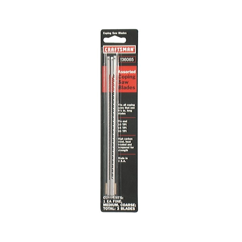 Craftsman Pin End Coping Saw Blades, Assortment Pack