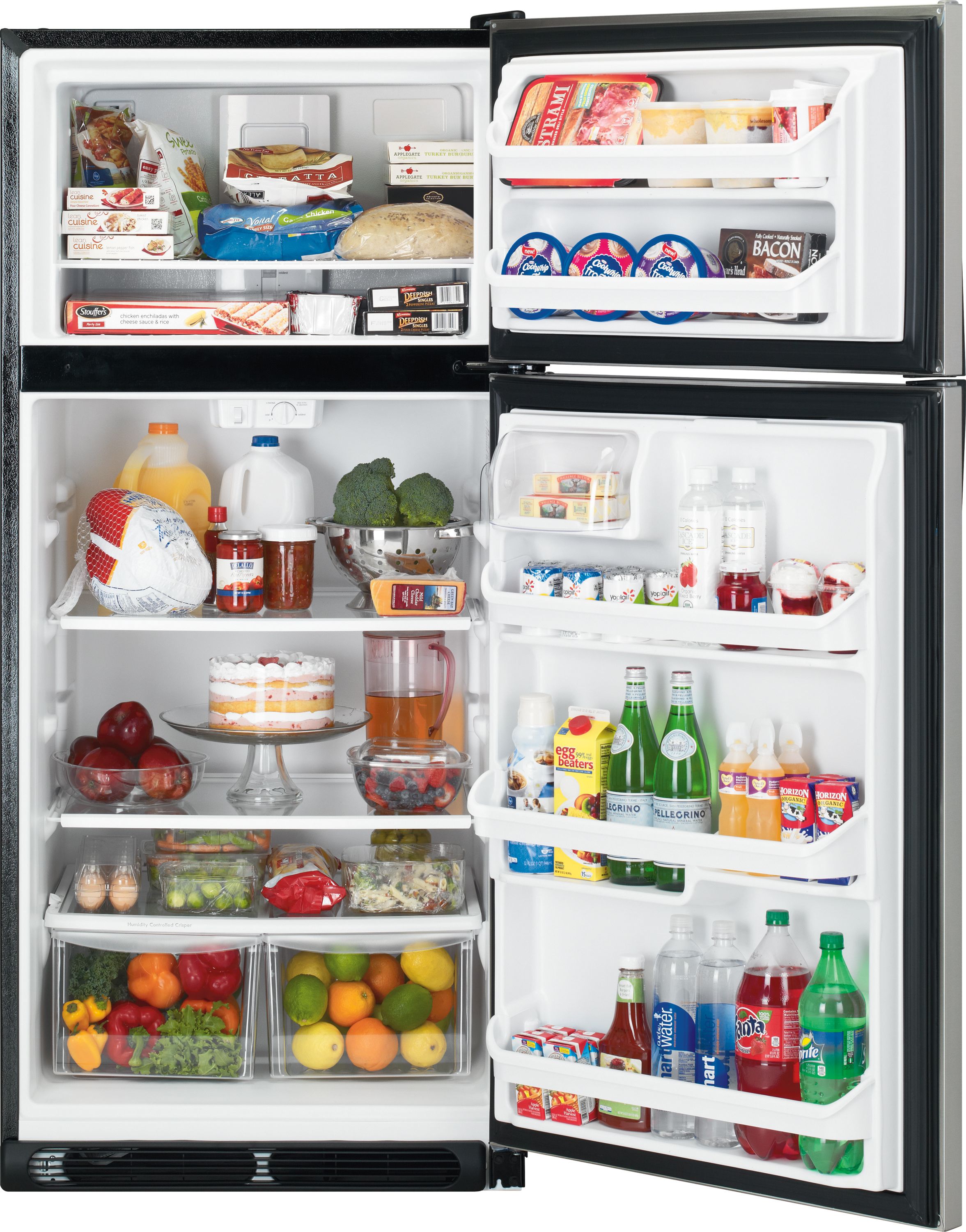 Kenmore 60503 18 cu. ft. Top Freezer Refrigerator w/ Glass Shelves - Stainless Steel