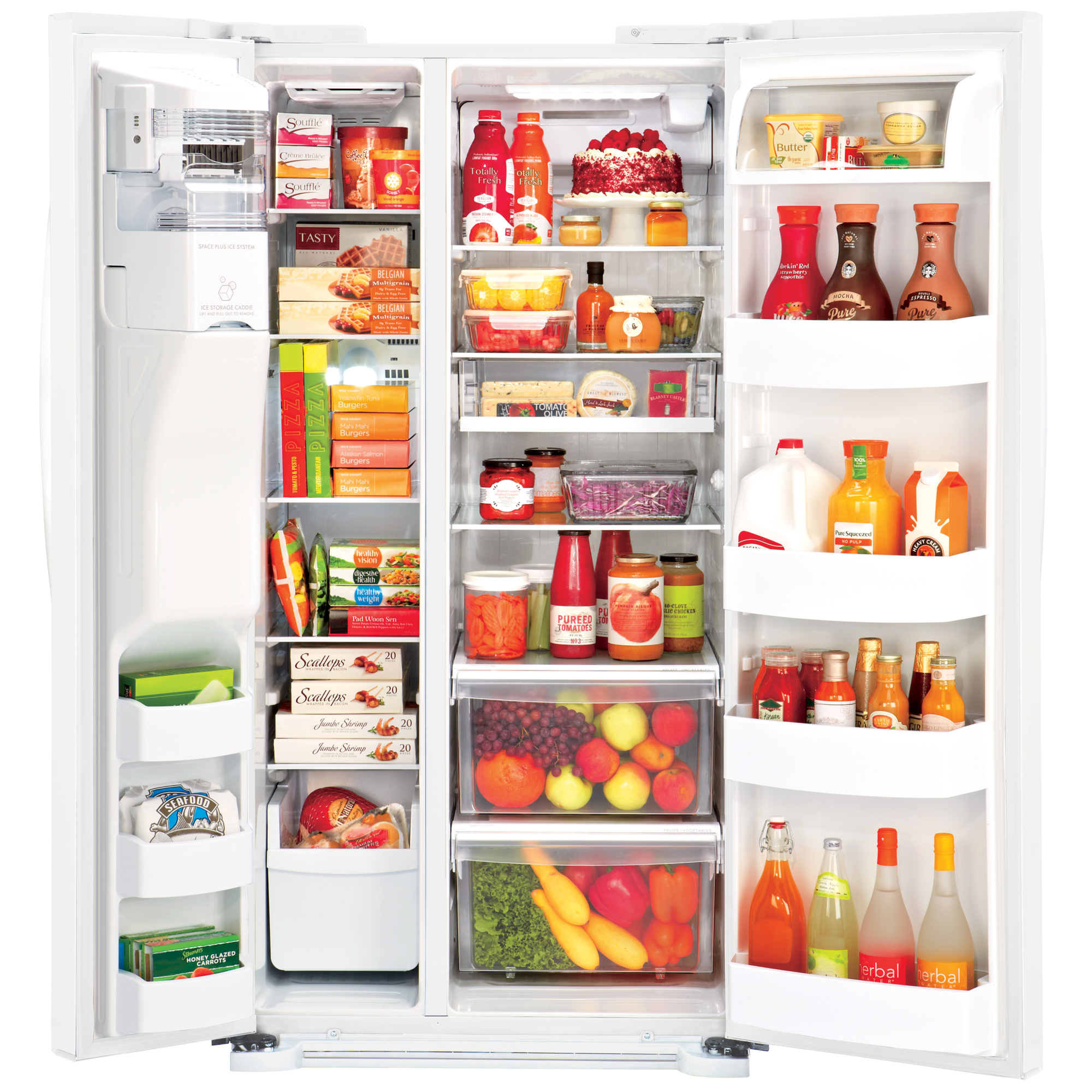 "LG LSXS22423W 22.1 cu. ft. Side-by-Side Refrigerator with Ice & Water Dispenser (33"" Width) – White"