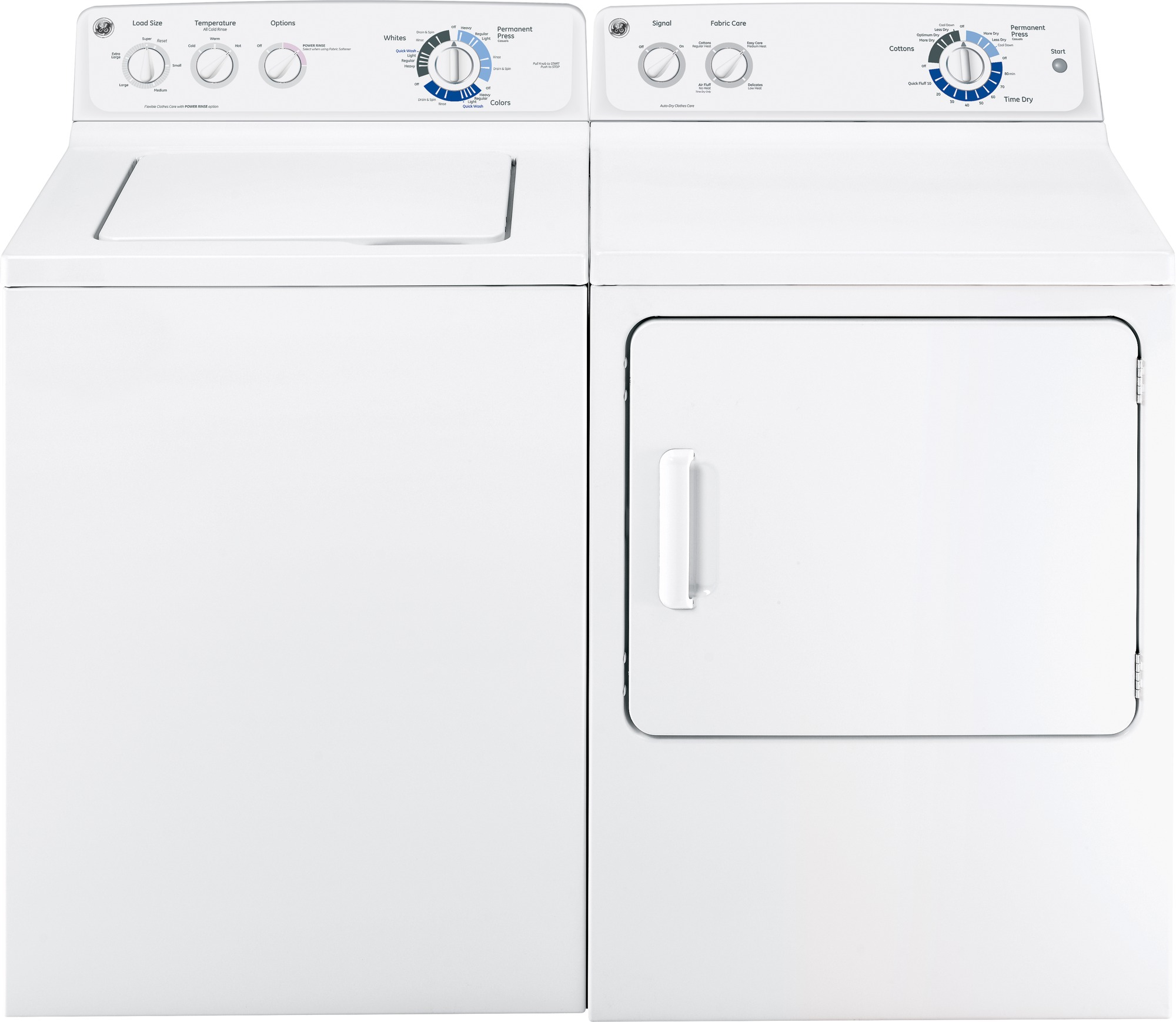 GE Appliances 7.0 cu. ft. Dura Drum Gas Dryer - White