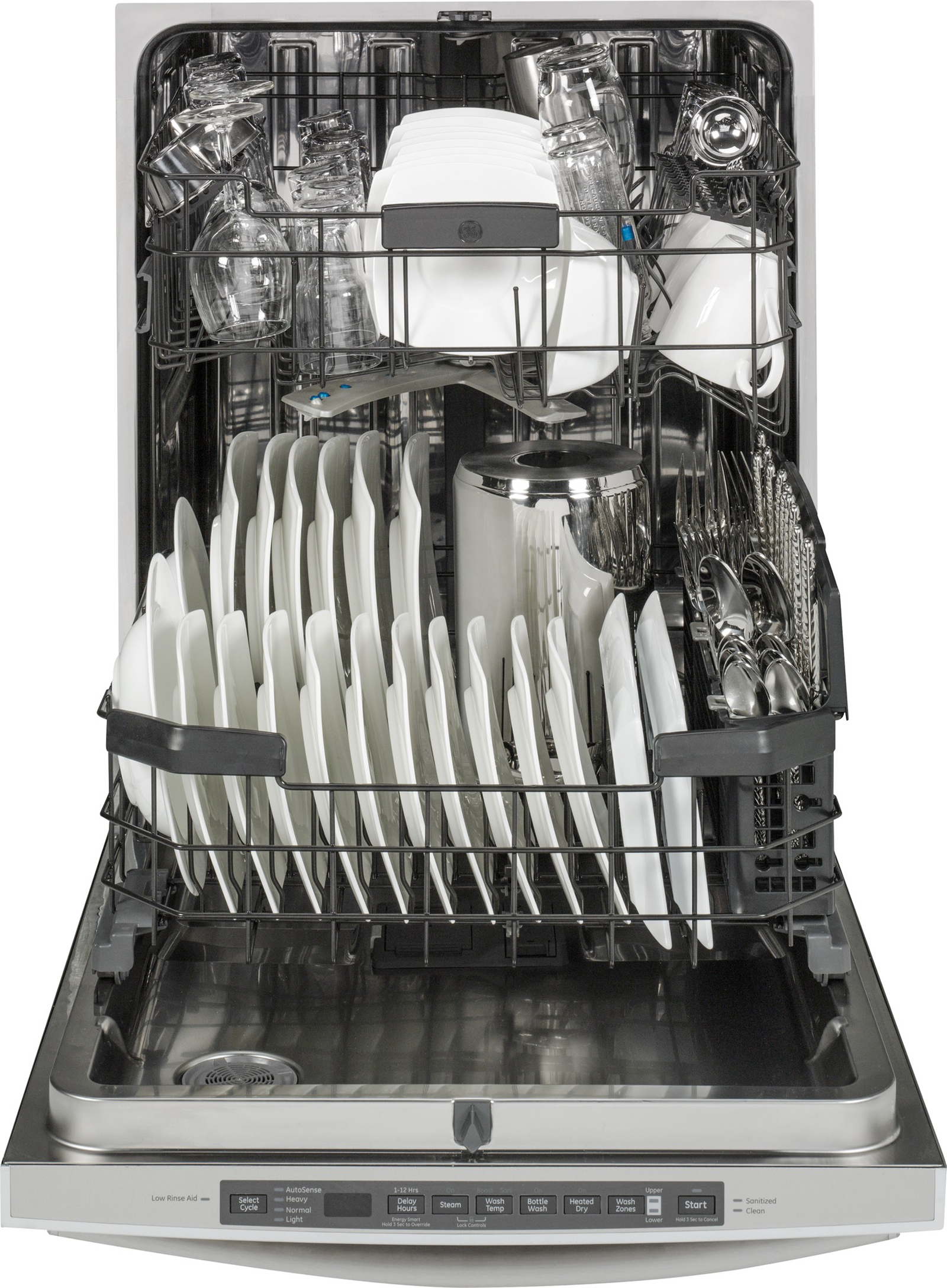 "GE Appliances 24"" Built-in Dishwasher w/ Stainless Steel Interior - Stainless Steel"