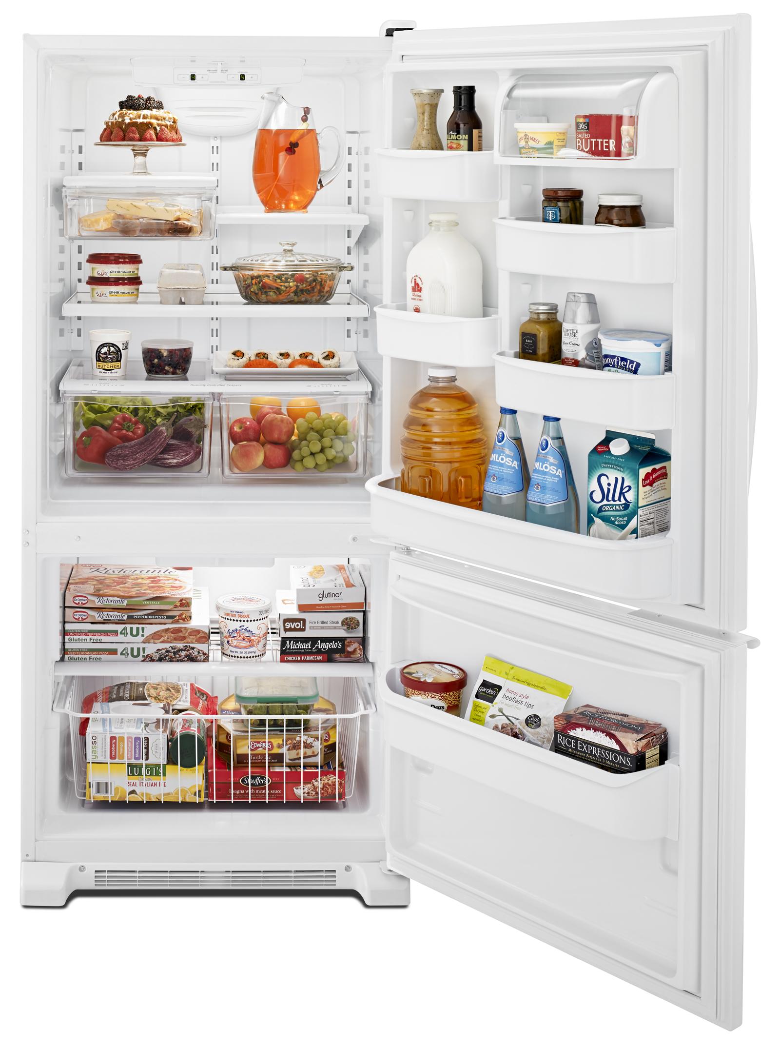 Whirlpool WRB119WFBW 19 cu. ft. Single Door Bottom Freezer Refrigerator w/ Adaptive Defrost - White