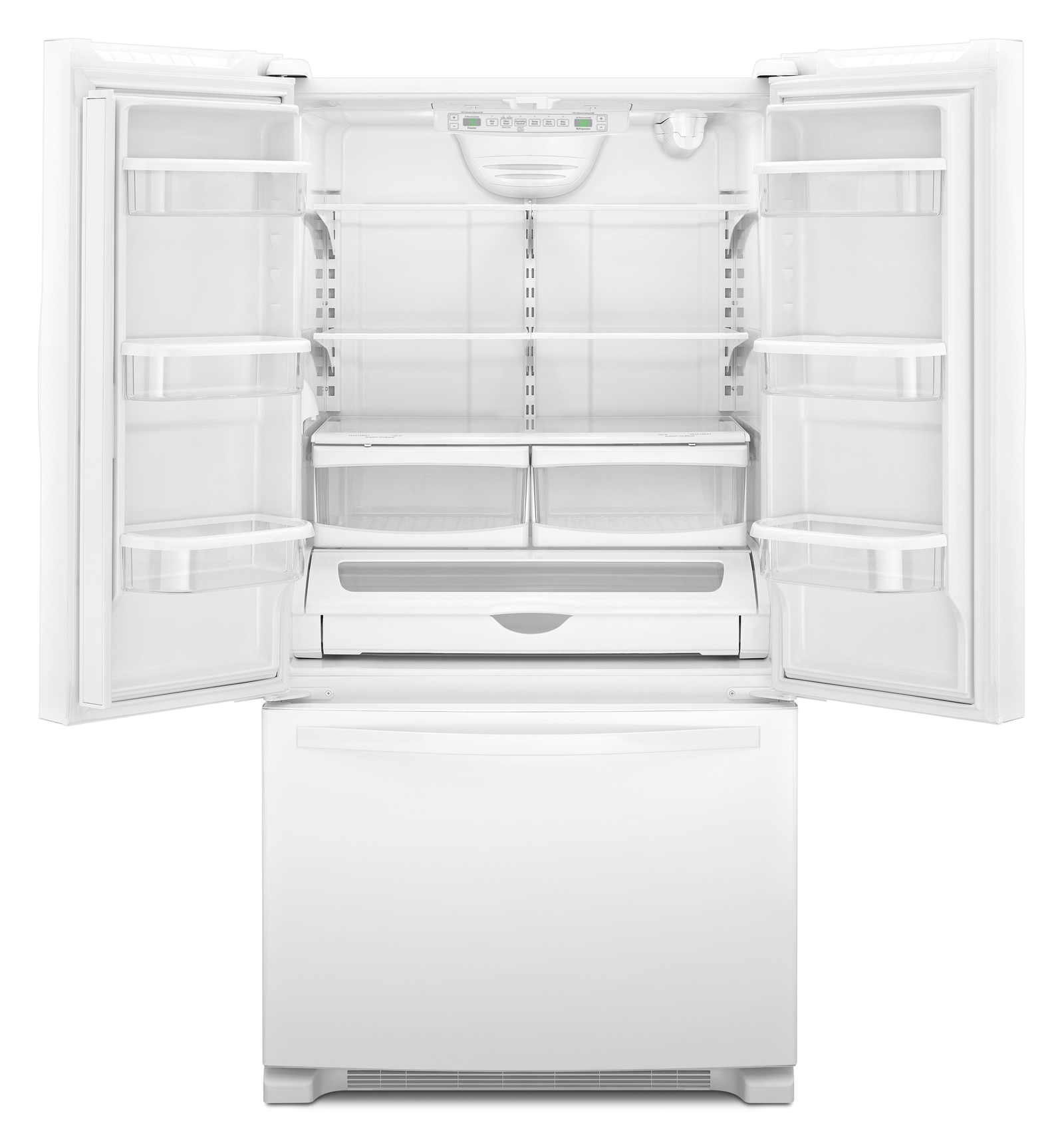 Whirlpool WRF540CWBW 20 cu. ft. Counter-Depth French Door Refrigerator w/ Interior Water Dispenser - White
