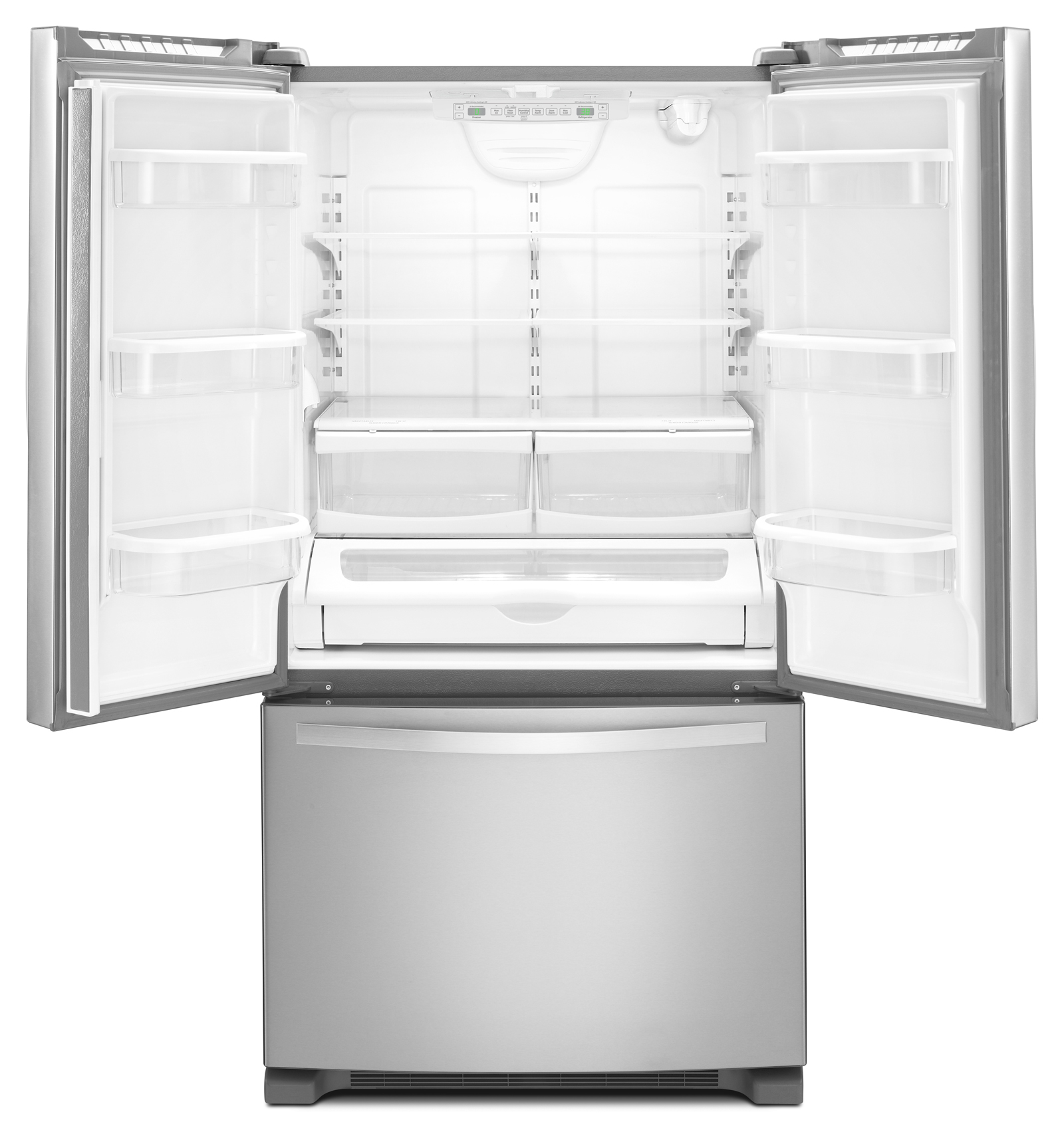 Whirlpool WRF540CWBM 20 cu. ft. Counter-Depth French Door Refrigerator w/ Interior Water Dispenser - Stainless Steel