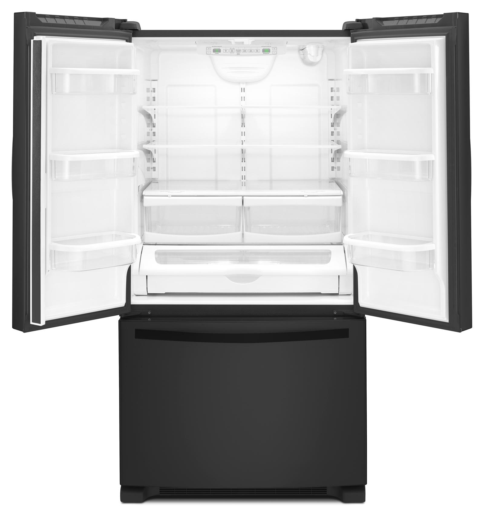 Whirlpool WRF540CWBB 20 cu. ft. Counter-Depth French Door Refrigerator w/ Interior Water Dispenser - Black