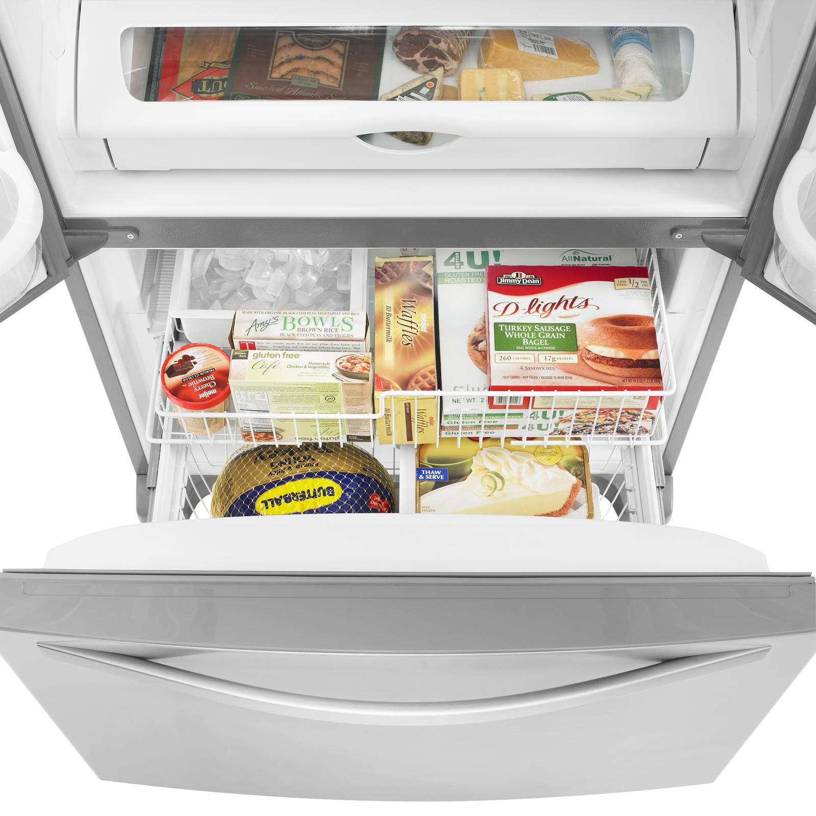Whirlpool 22 cu. ft. French Door Bottom Freezer Refrigerator w/ Adaptive Defrost - Stainless