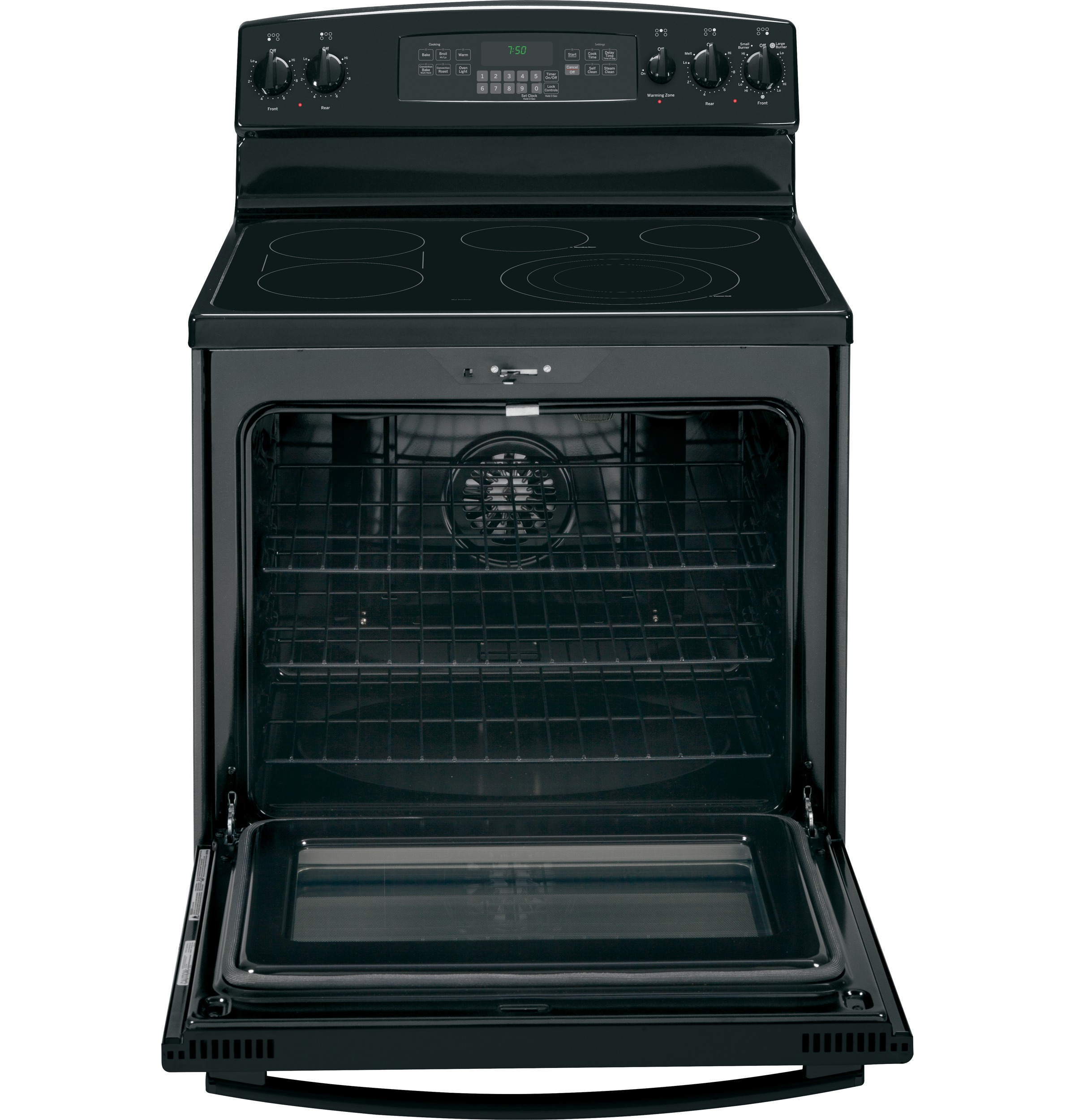 GE Appliances 5.3 cu. ft. Electric Range w/ True Convection - Black