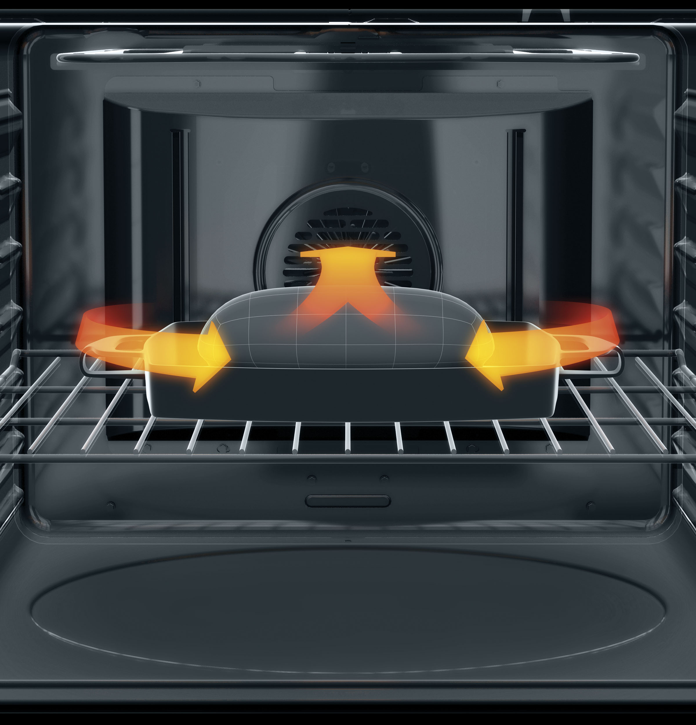 GE 5.3 cu. ft. Electric Range w/ True Convection - Black