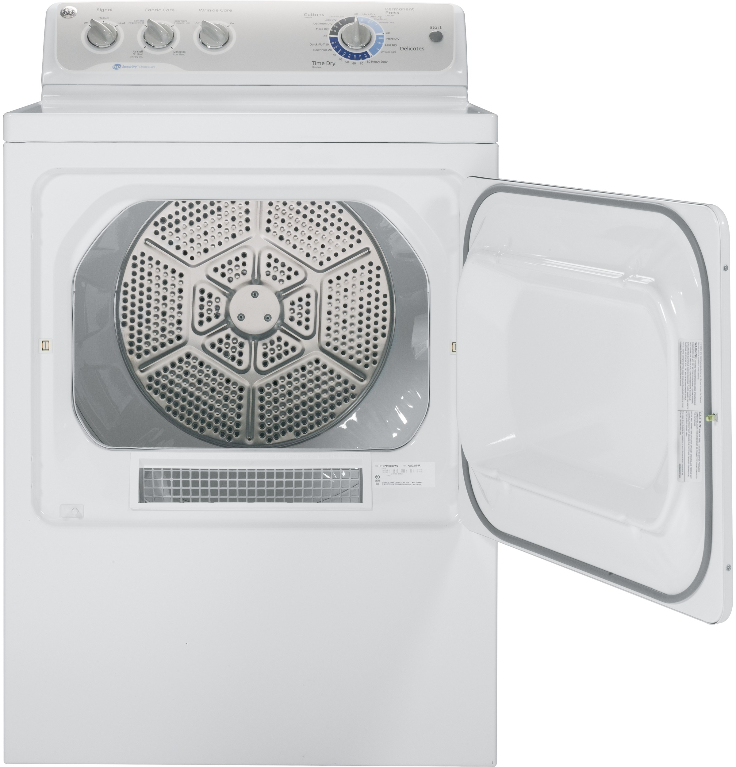 GE Appliances 7.0 cu. ft. Electric Dryer - White GTDP490EDWS