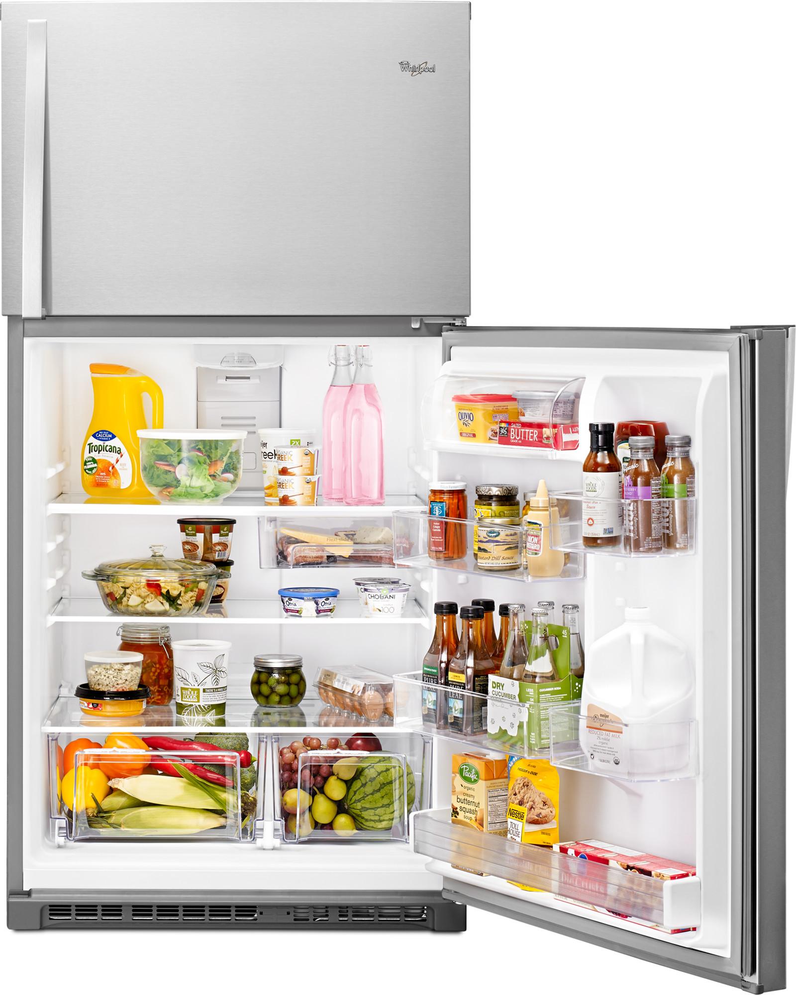 Whirlpool WRT511SZDM 21 cu. ft. Top Freezer Refrigerator w/ LED Interior Lighting - Stainless Steel
