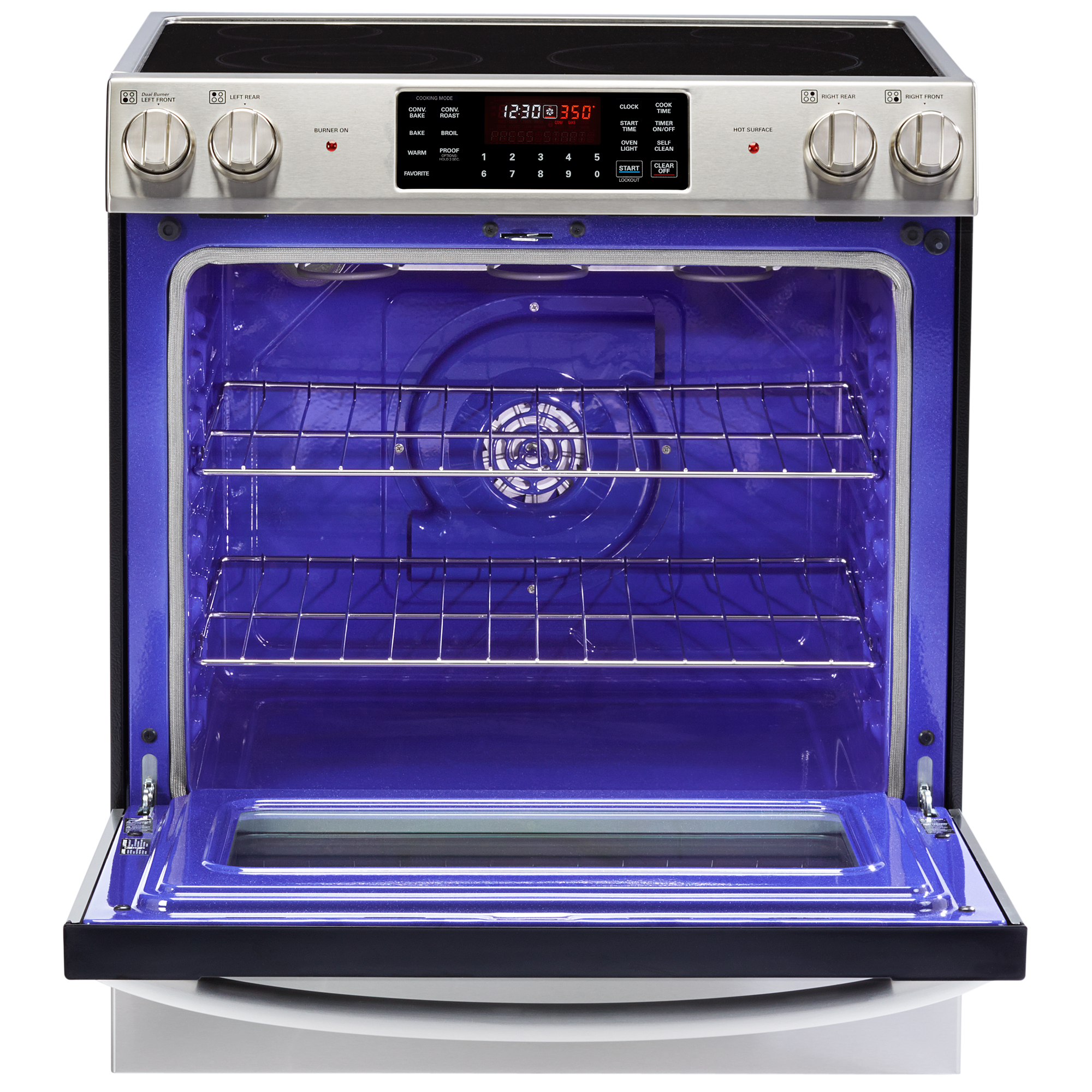"""LG LSE3090ST 30"""" Slide-In Electric Range w/Convection — Stainless Steel"""