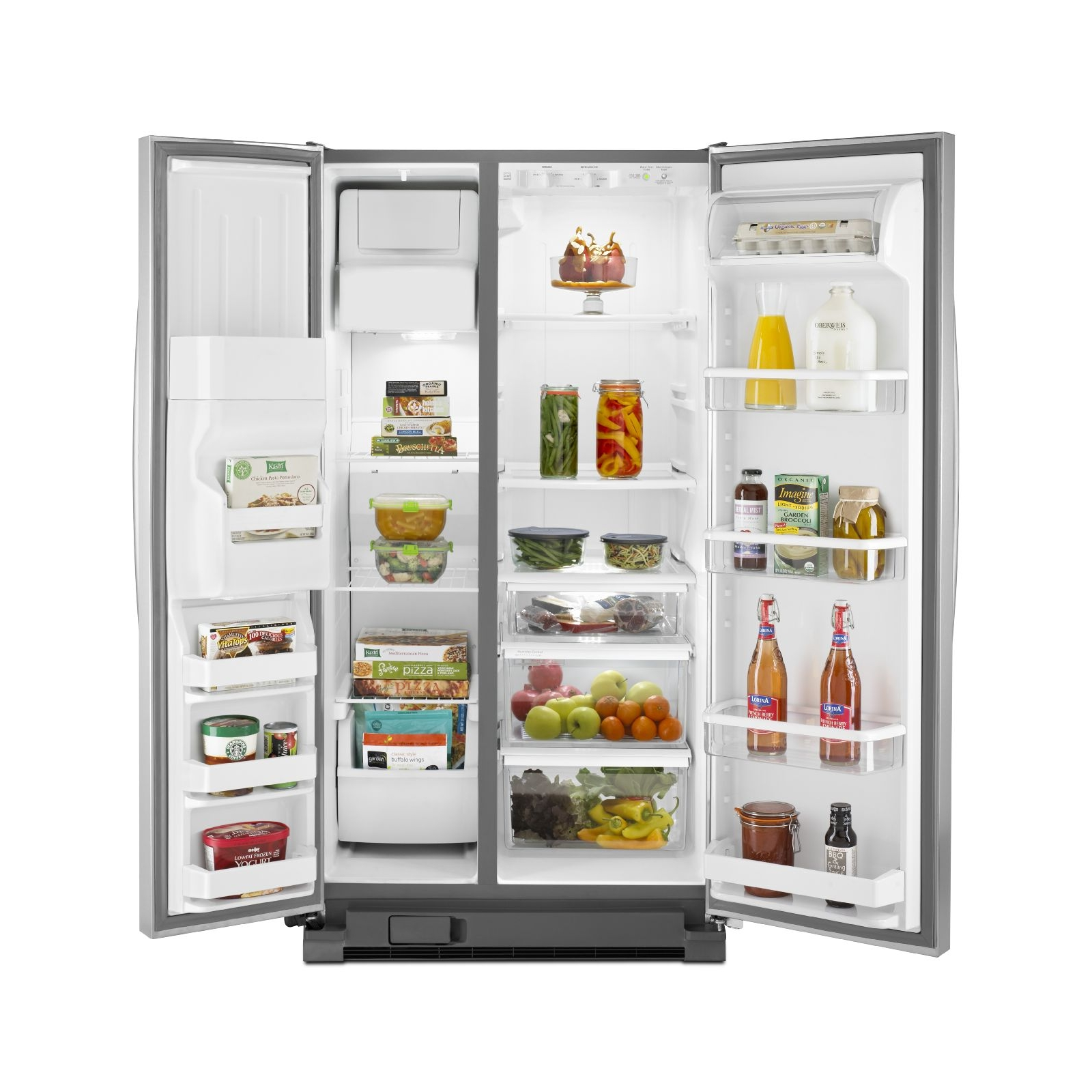 Whirlpool WRS325FDAM 24.9 cu. ft. Side-by-Side Refrigerator w/ Accu-Chill- Stainless Steel