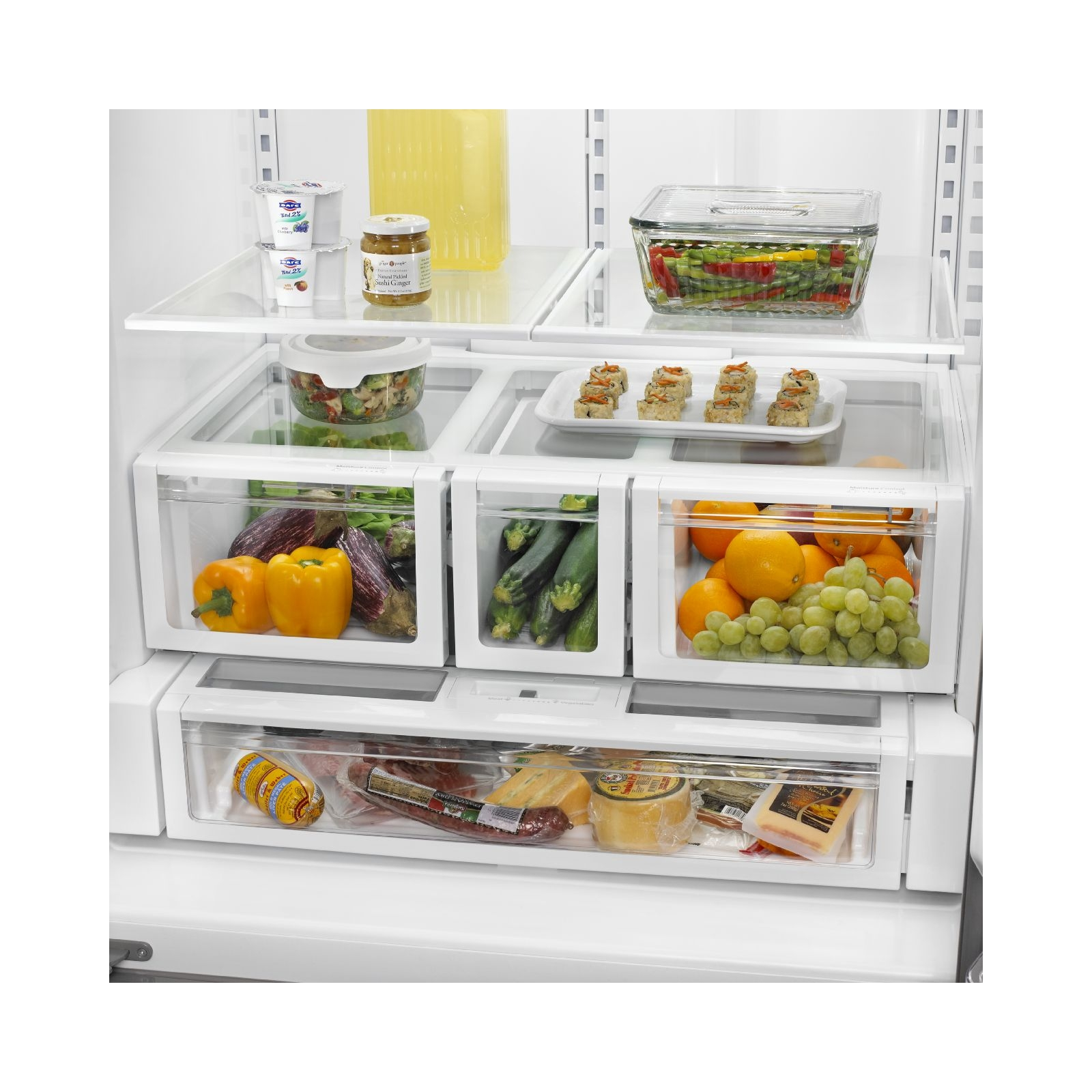 Whirlpool WRF736SDAM 25 cu. ft. French Door Refrigerator w/ MicroEdge Shelves-Stainless Steel